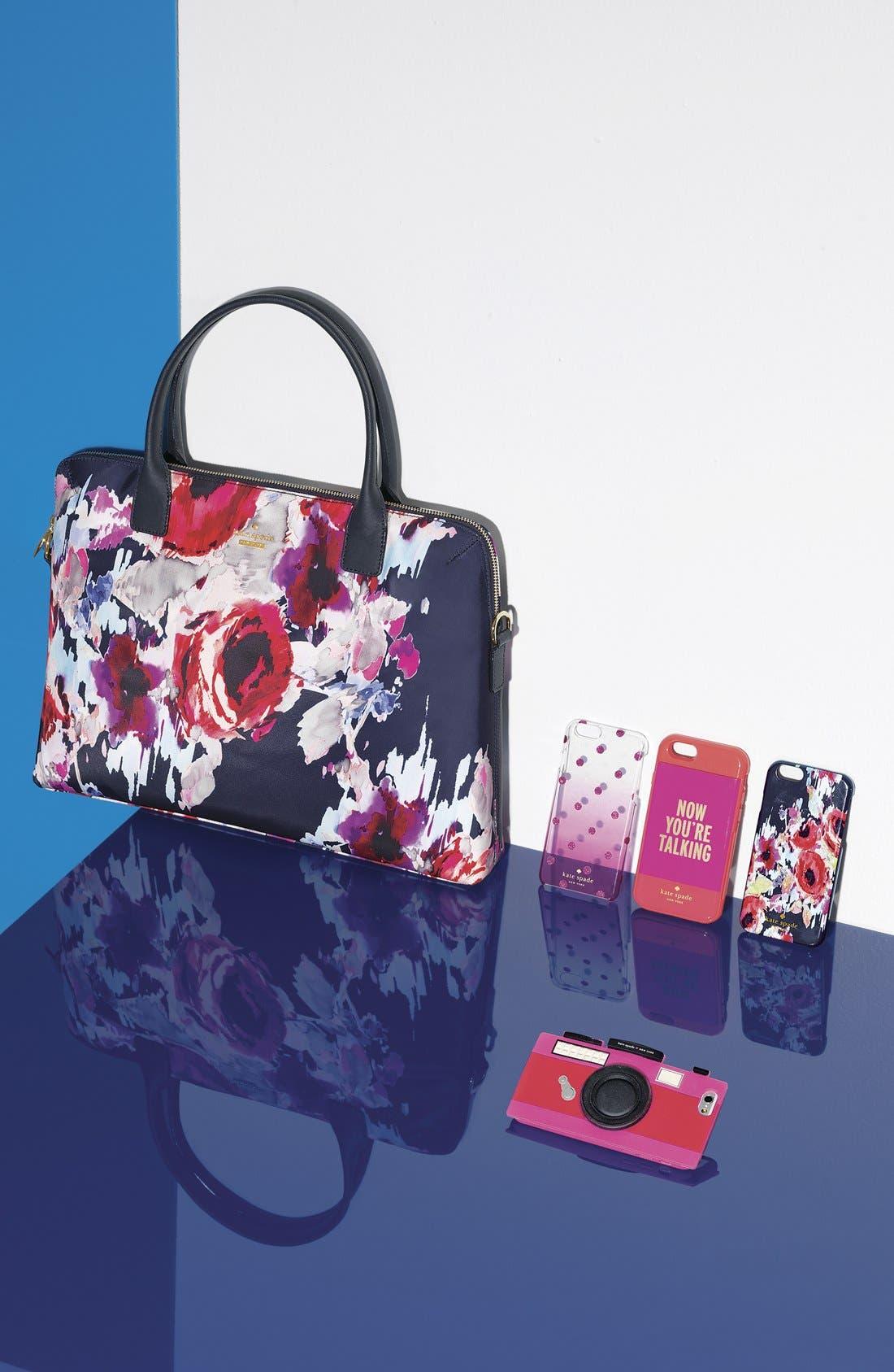 'hazy floral daveney' laptop bag,                             Alternate thumbnail 4, color,                             600