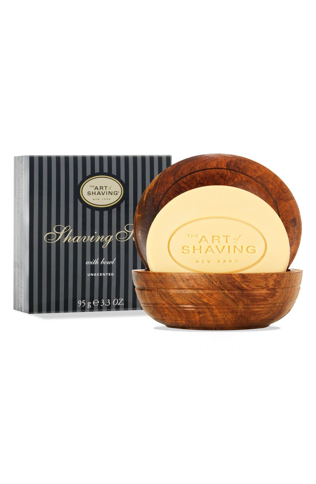 Unscented Shaving Soap with Bowl,                             Main thumbnail 1, color,                             000