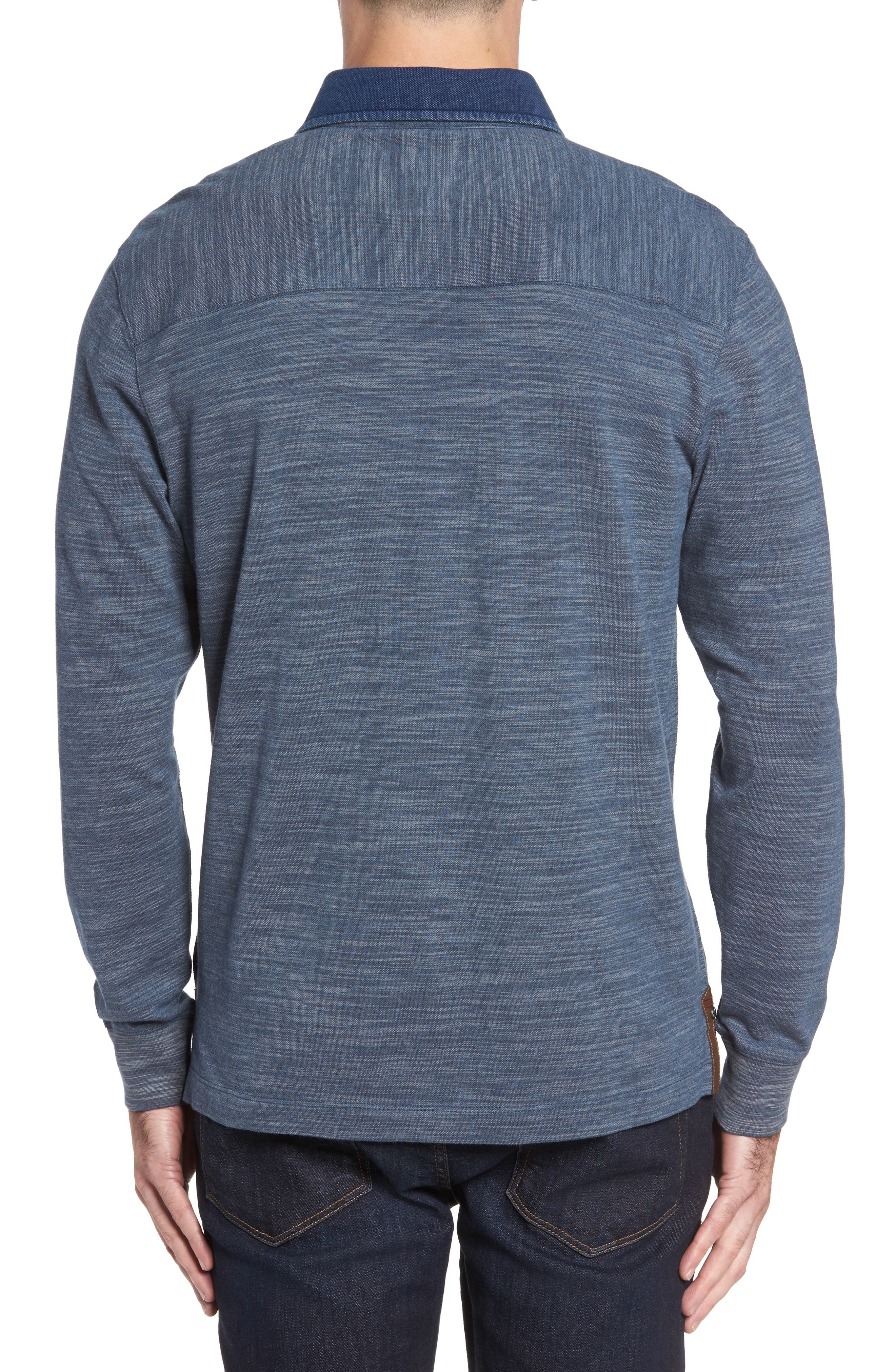 Patton Space Dyed Long Sleeve Polo,                             Alternate thumbnail 5, color,