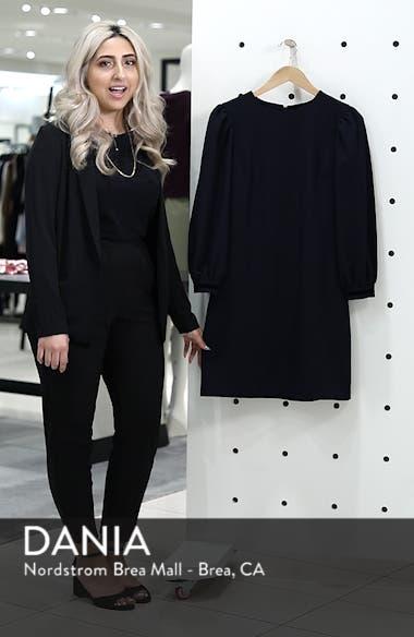 Velvet Trim Shift Dress, sales video thumbnail