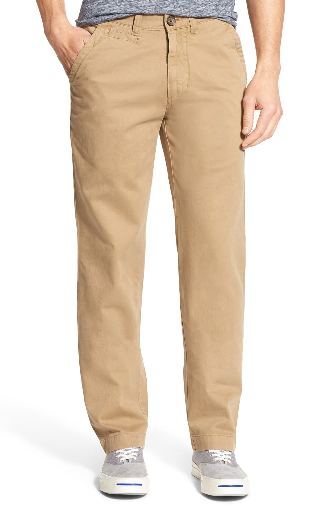 'Sahara' Trim Fit Vintage Washed Twill Chinos,                             Main thumbnail 4, color,