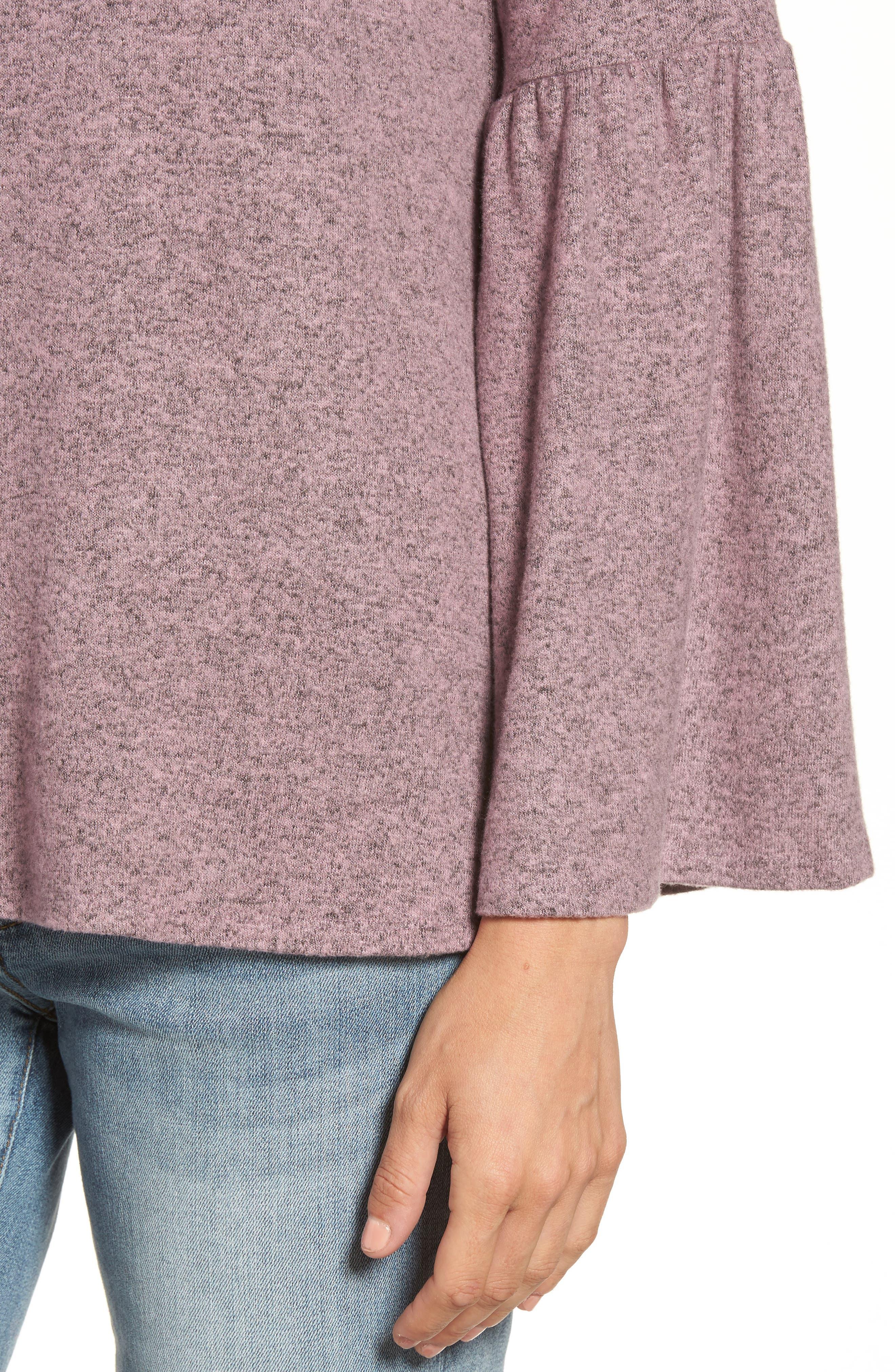 Bell Sleeve Cozy Fleece Pullover,                             Alternate thumbnail 40, color,