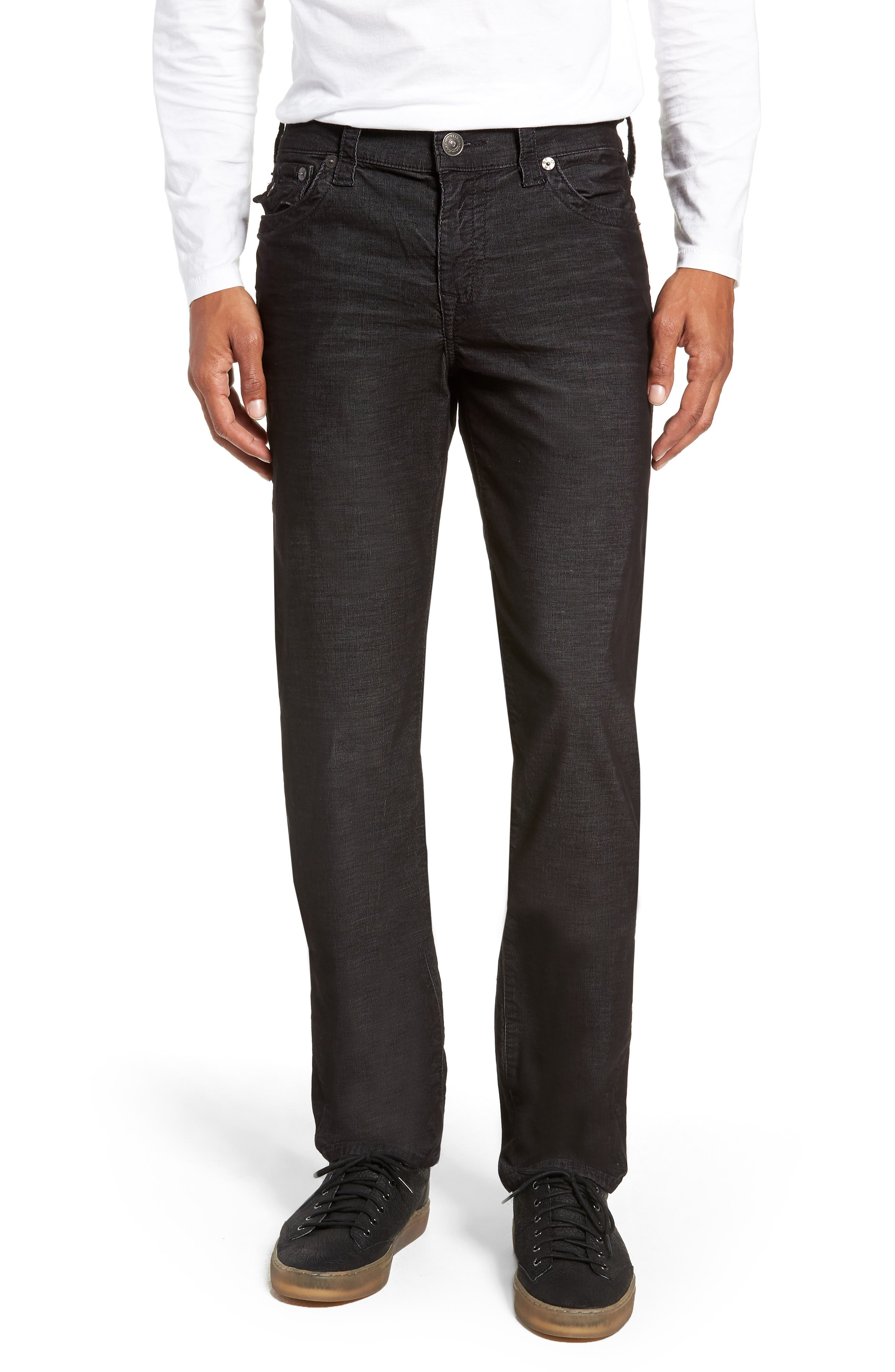 Geno Slim Straight Leg Jeans,                         Main,                         color, BLACK