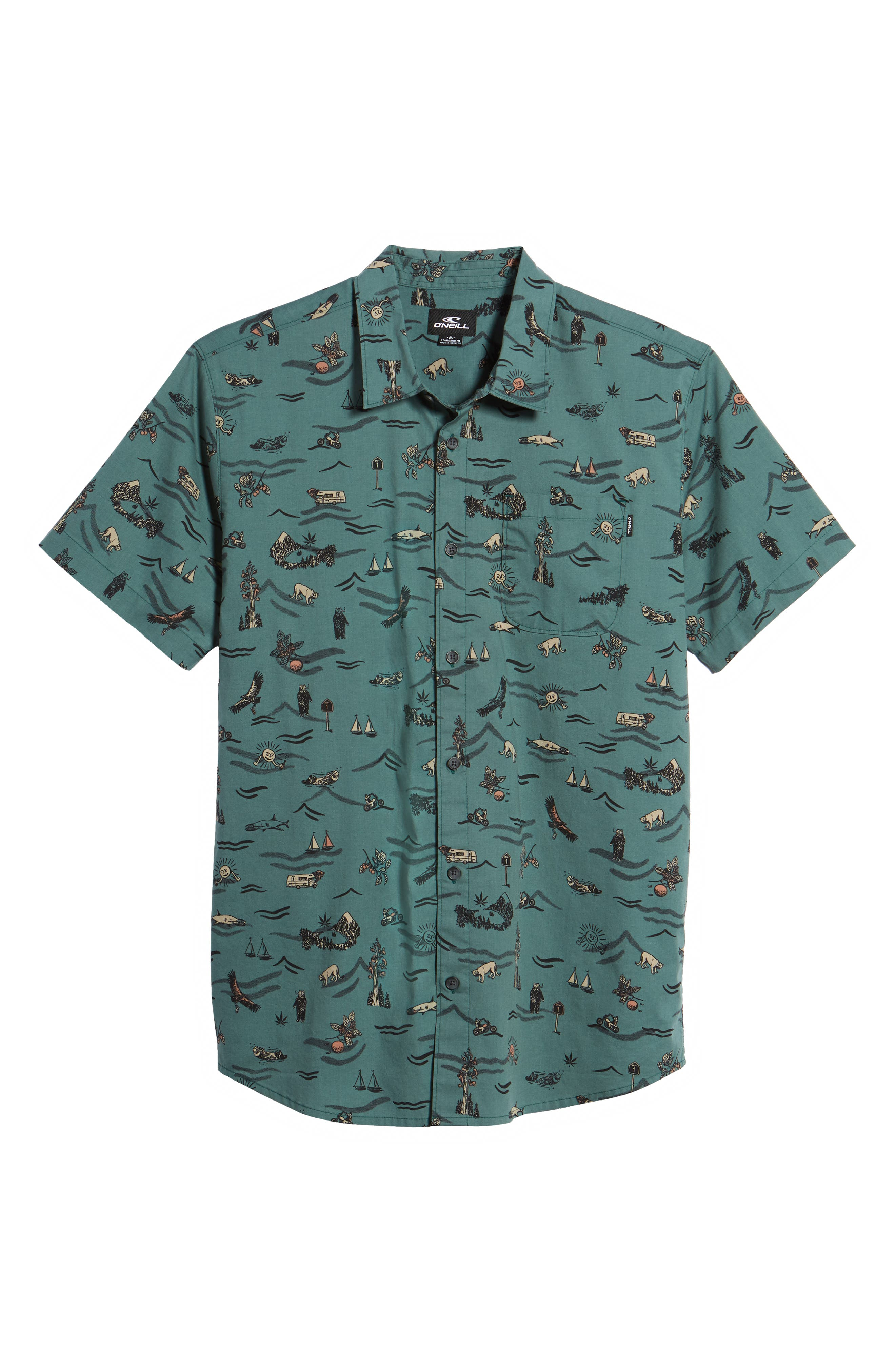 Squawk Short Sleeve Shirt,                             Alternate thumbnail 6, color,                             300