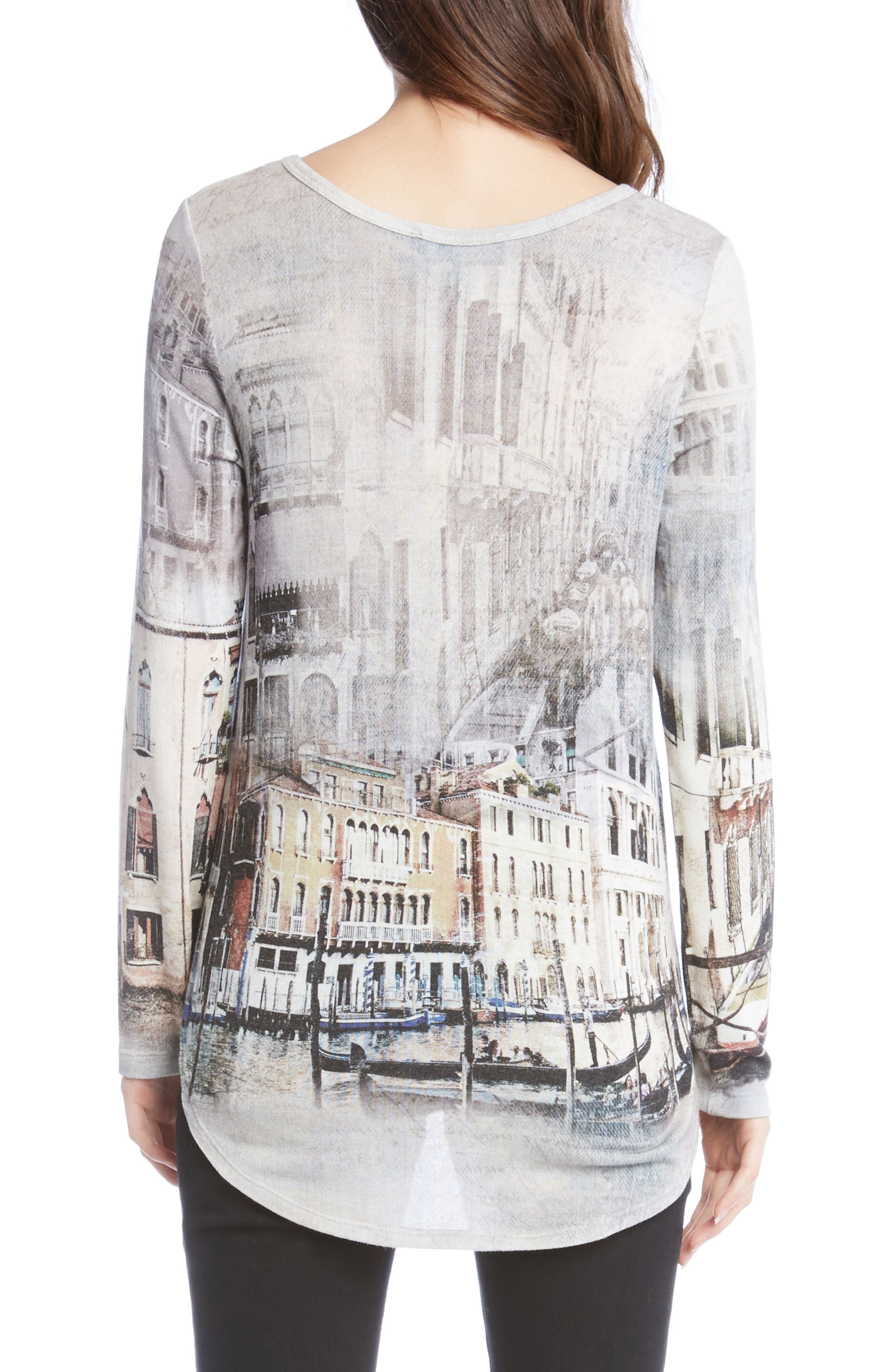 Venice Canal Shirttail Tee,                             Alternate thumbnail 2, color,                             260