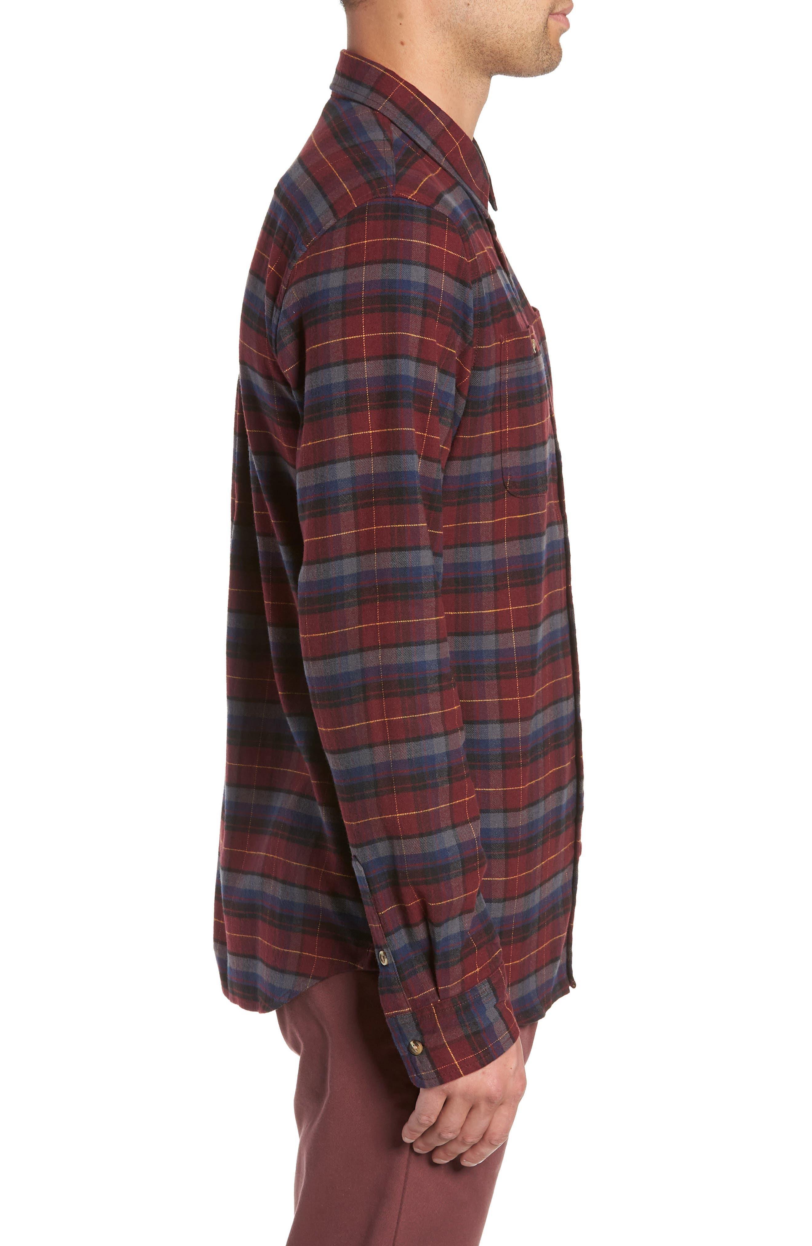 Banfield III Plaid Flannel Shirt,                             Alternate thumbnail 4, color,                             930