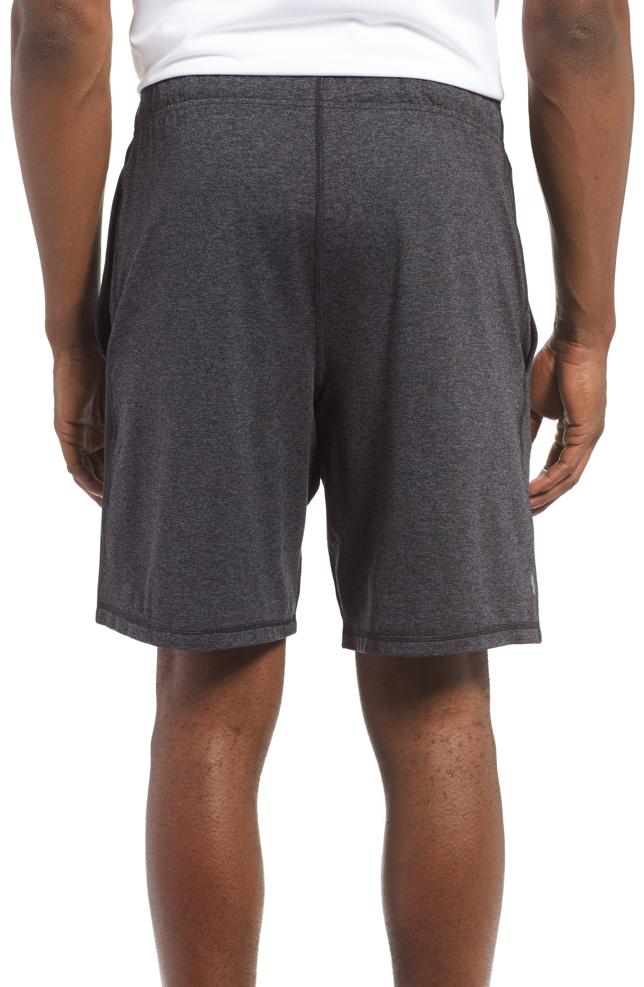 'Go To' Moisture Wicking Stretch Shorts,                             Alternate thumbnail 2, color,                             HEATHER CHARCOAL/ BLACK