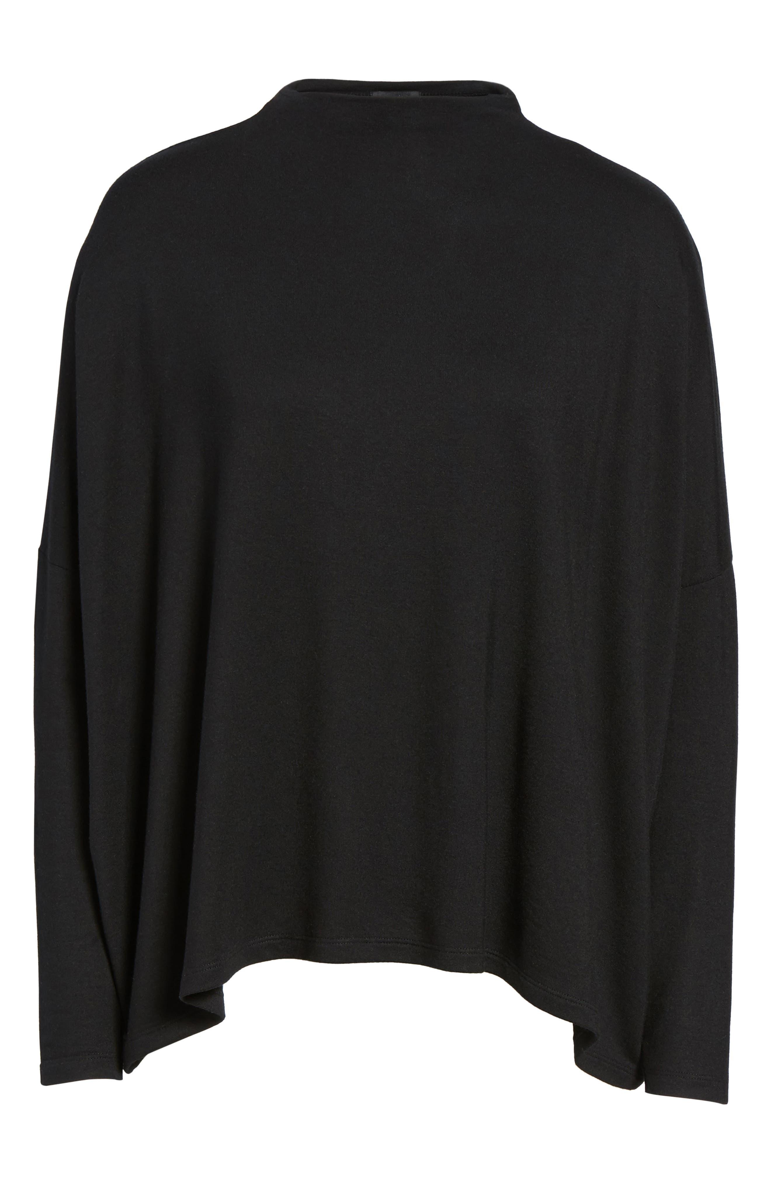 High Neck Sweatshirt,                             Alternate thumbnail 6, color,                             001