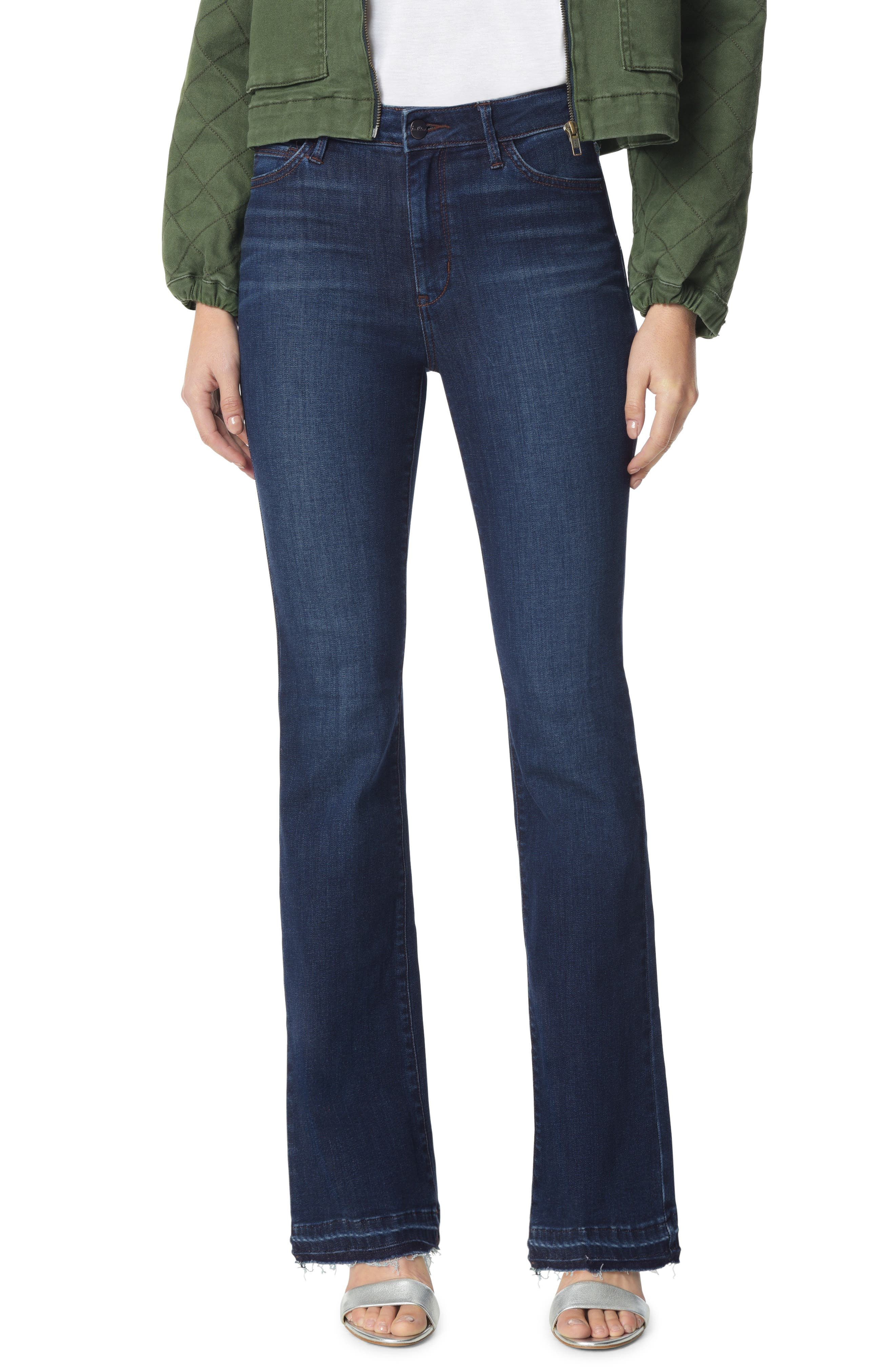 The Stiletto Raw Released Hem Bootcut Jeans,                             Main thumbnail 1, color,                             BABZ