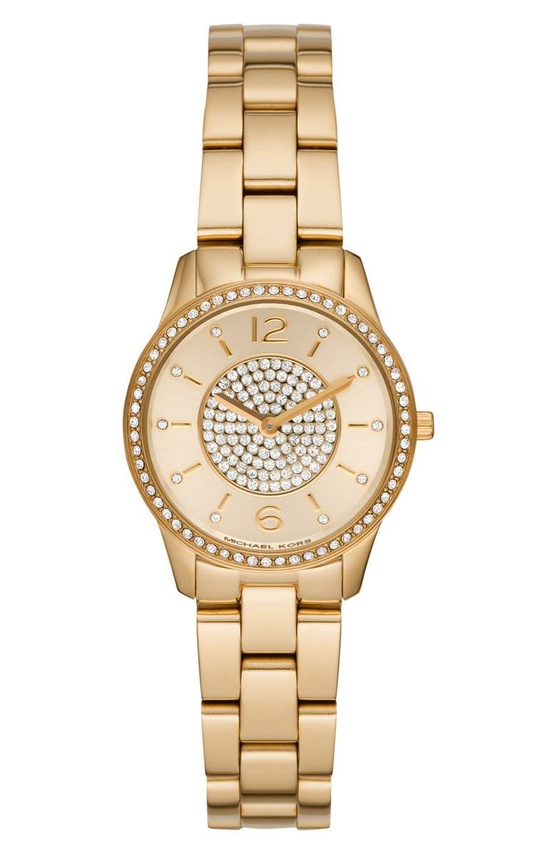 c832b017fac2 Michael Kors Runway Crystal Bracelet Watch