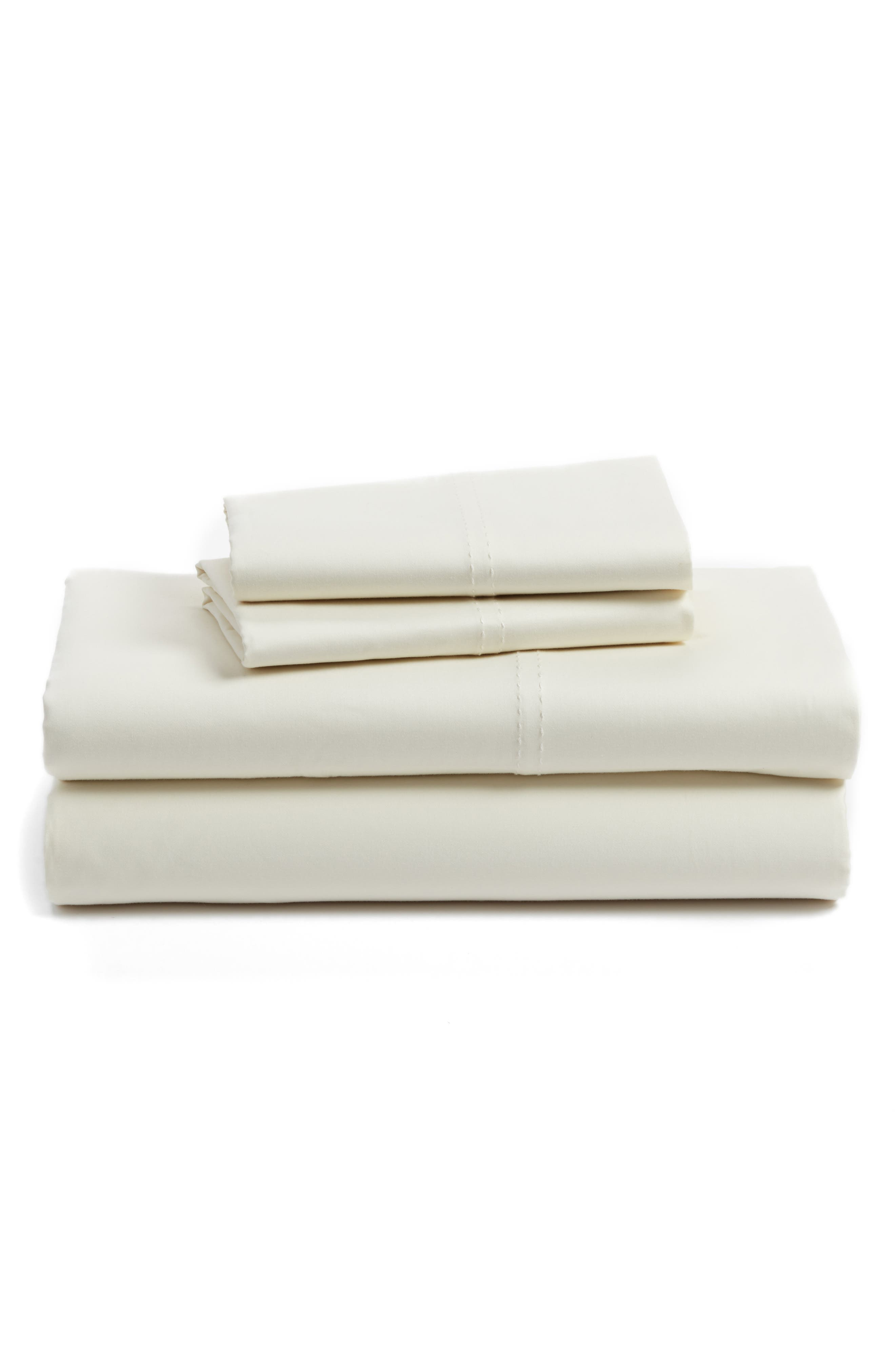 400 Thread Count Organic Cotton Sateen Sheet Set,                             Main thumbnail 15, color,
