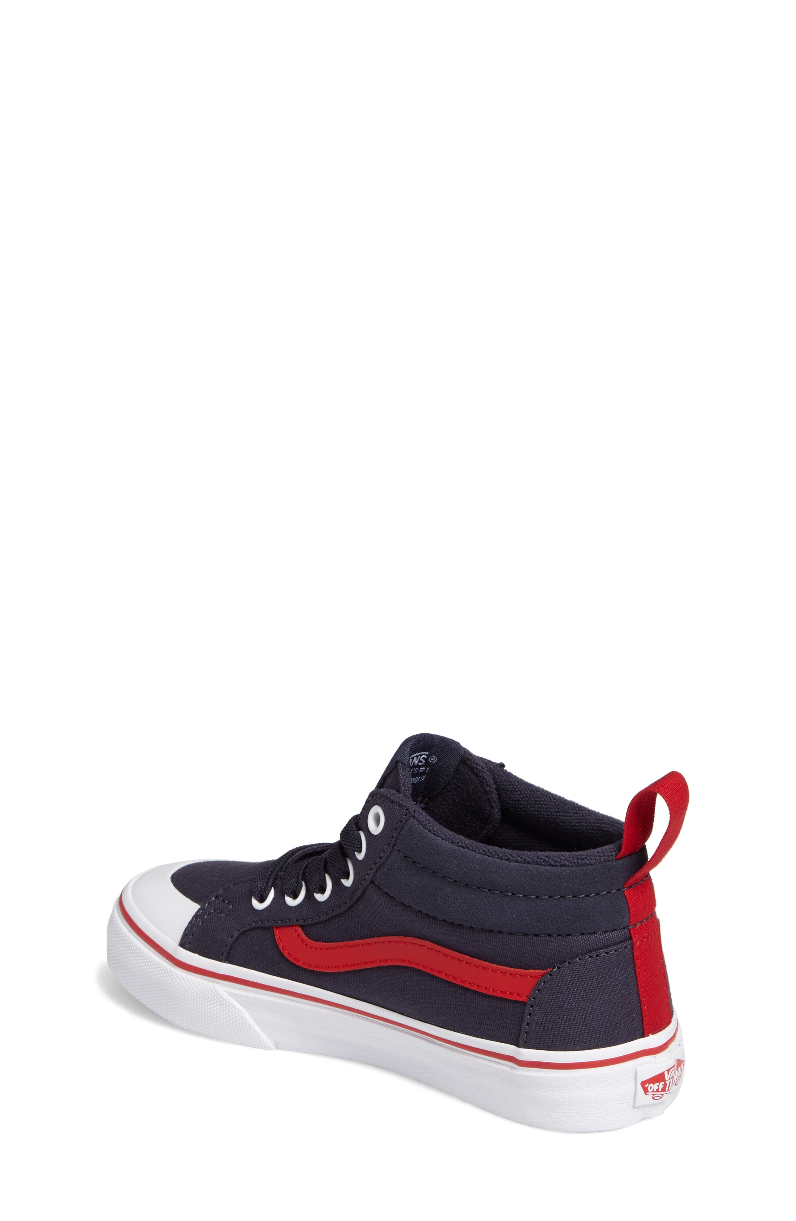 Racer Mid Elastic Lace Sneaker,                             Alternate thumbnail 14, color,