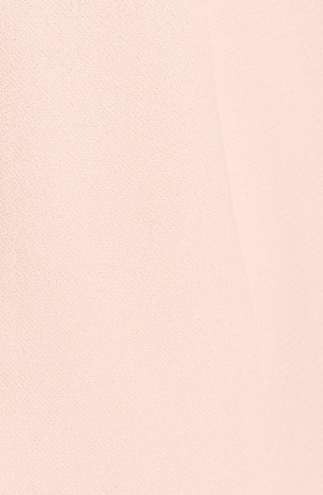 Sheer Hem Crepe Dress,                             Alternate thumbnail 2, color,                             650