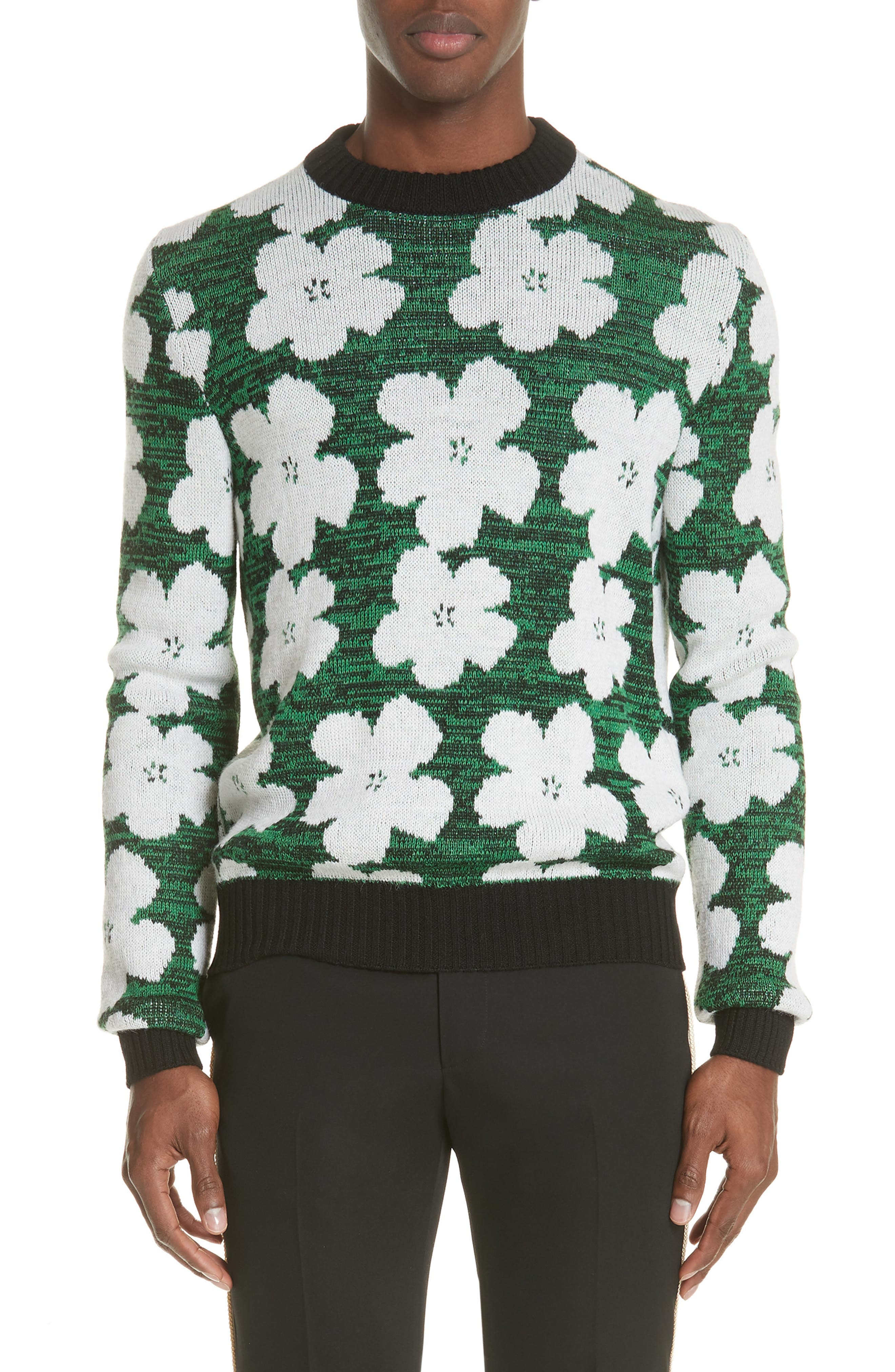 Andy Warhol Flower Sweater,                             Main thumbnail 1, color,                             320