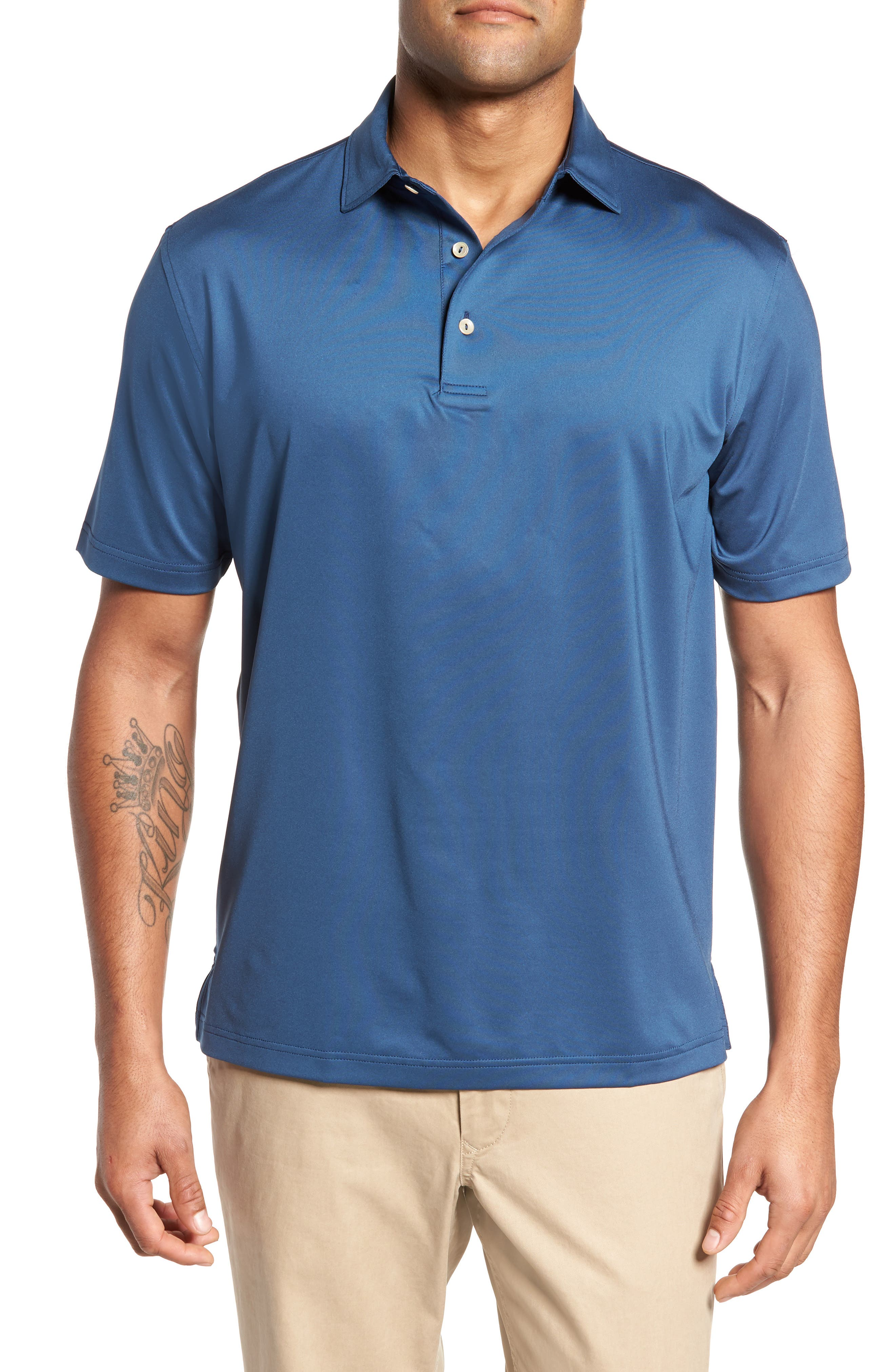 PETER MILLAR Stretch Jersey Polo, Main, color, 402