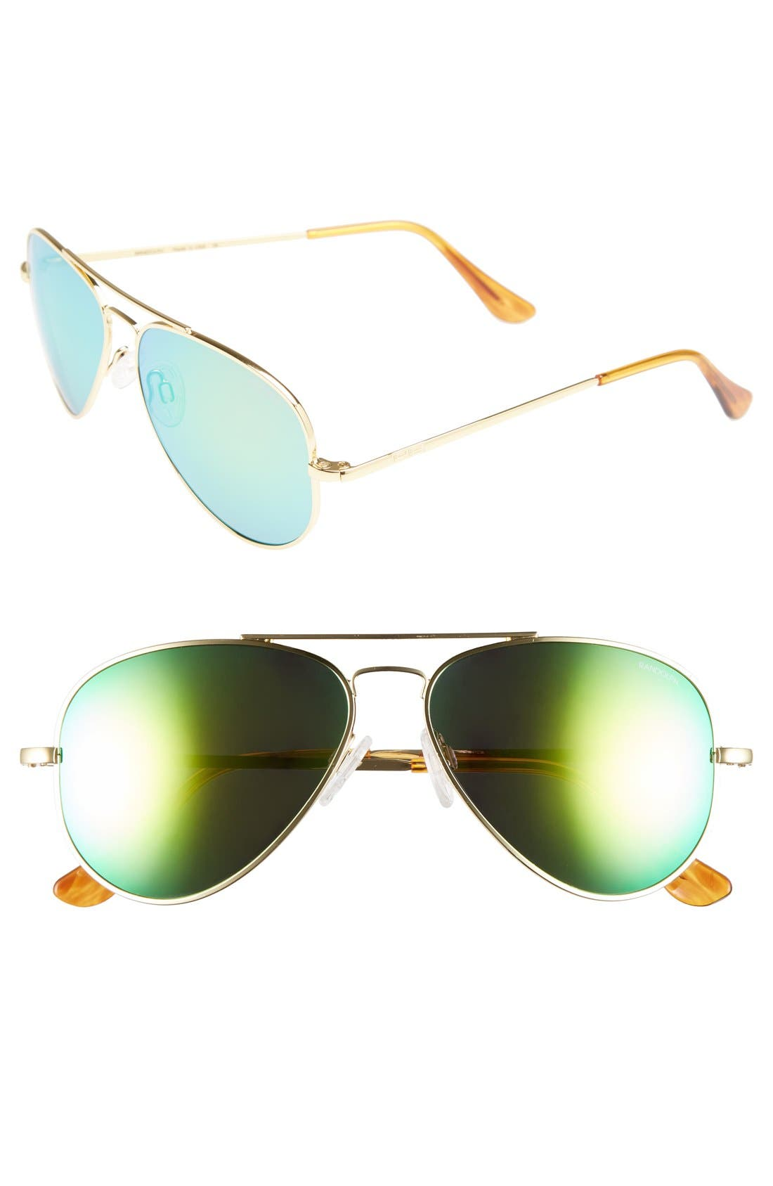 'Concorde - Flash' 57mm Aviator Sunglasses, Main, color, 710