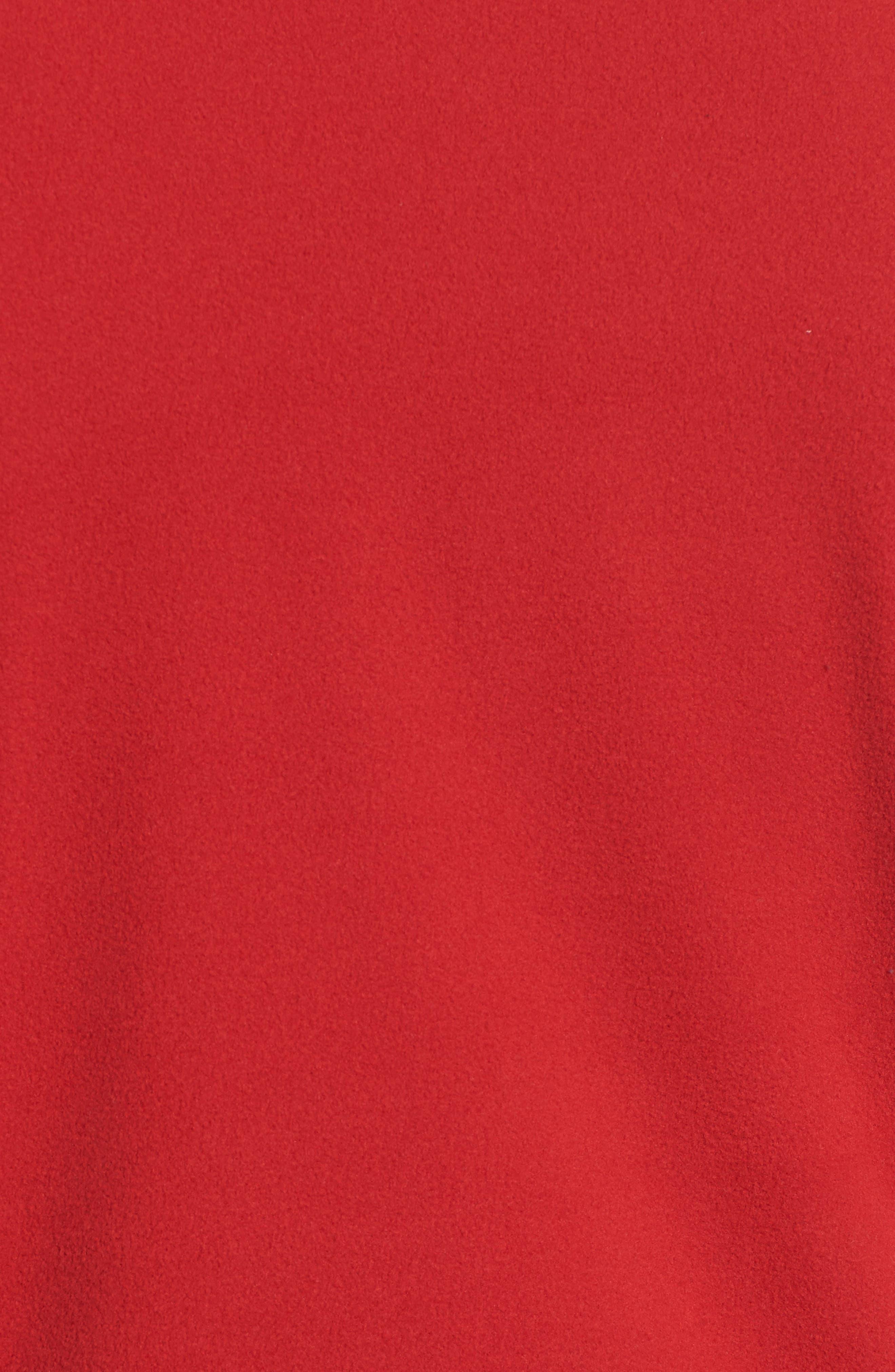 'TKA 100 Glacier' Quarter Zip Fleece Pullover,                             Alternate thumbnail 5, color,                             RAGE RED/ RAGE RED