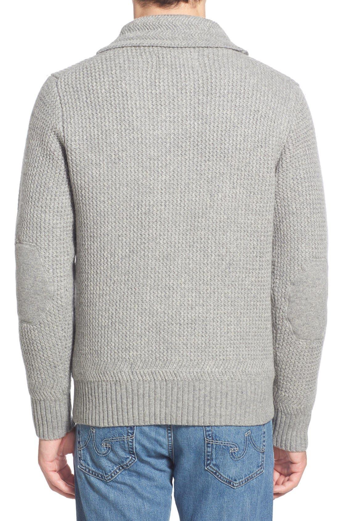 Regular Fit Shawl Collar Sweater,                             Alternate thumbnail 3, color,