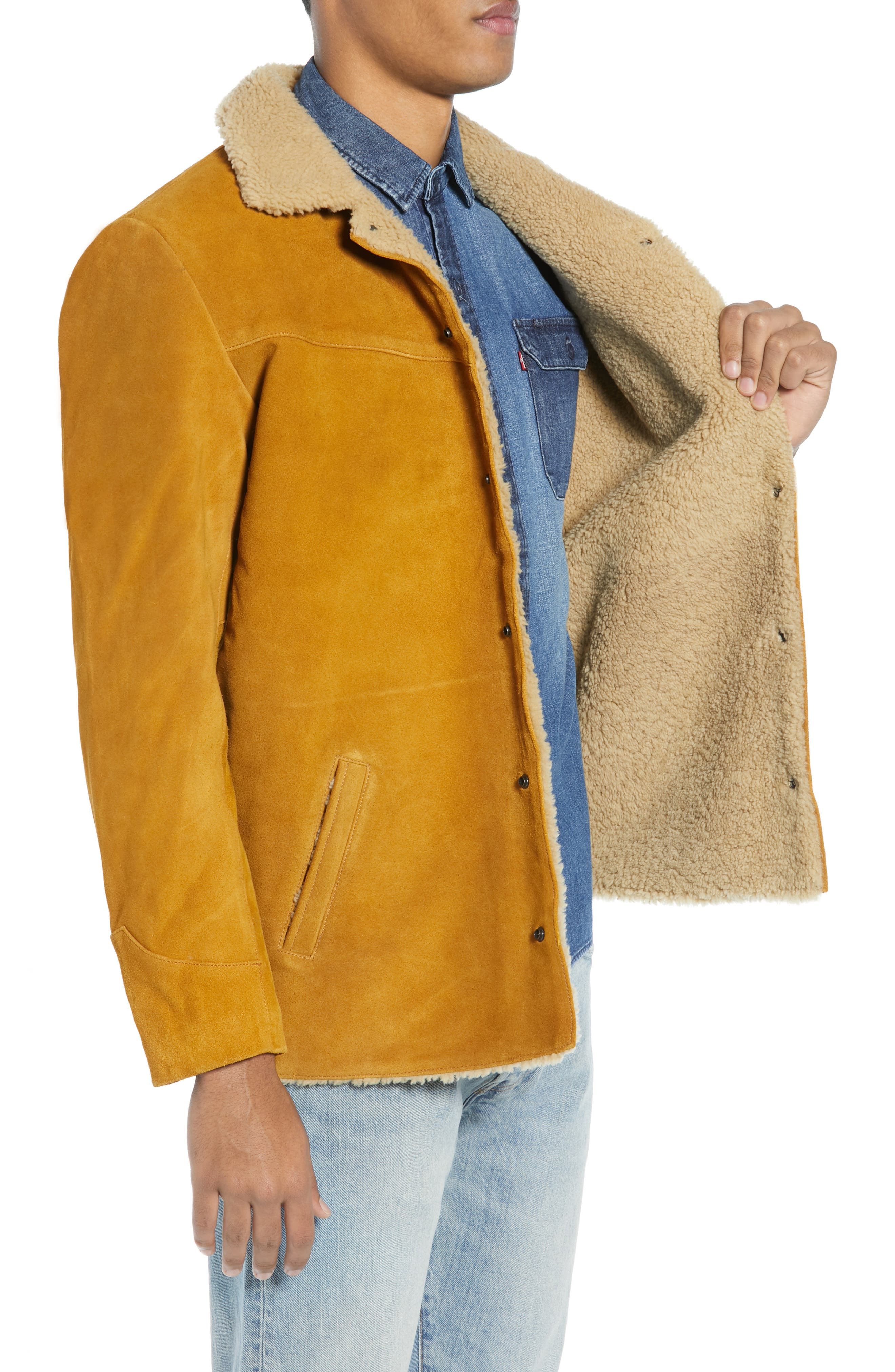 Levi's<sup>®</sup> Fleece Lined Suede Jacket,                             Alternate thumbnail 3, color,                             250