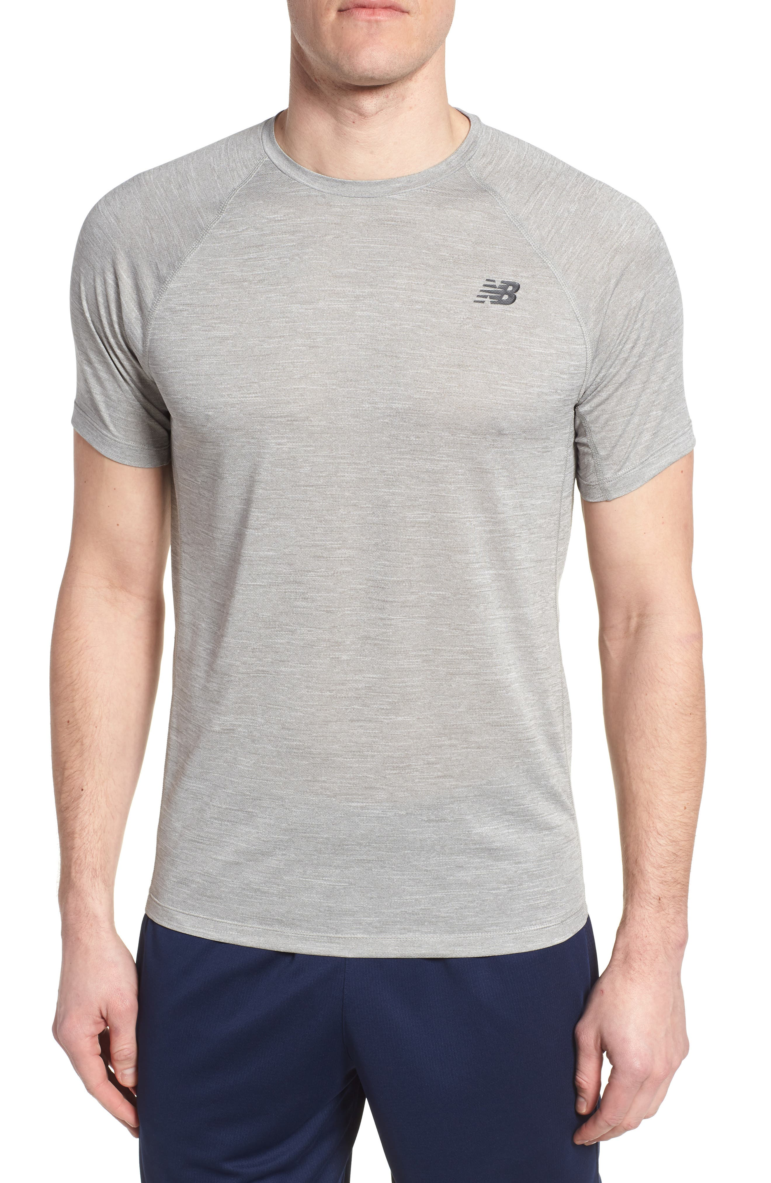 Tenacity Crewneck T-Shirt,                         Main,                         color, ATHLETIC GREY
