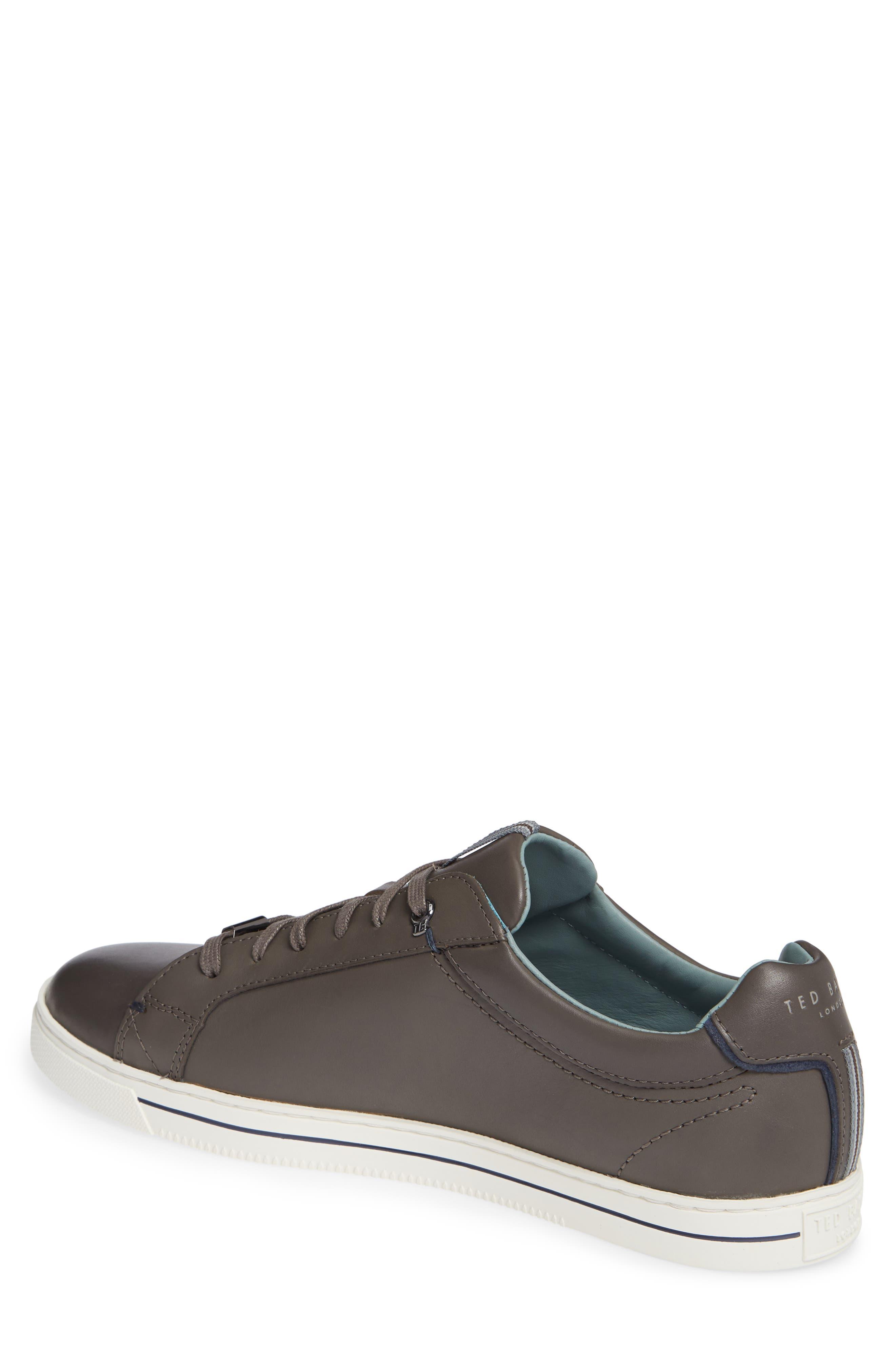 Thawne Sneaker,                             Alternate thumbnail 2, color,                             DARK GREY LEATHER