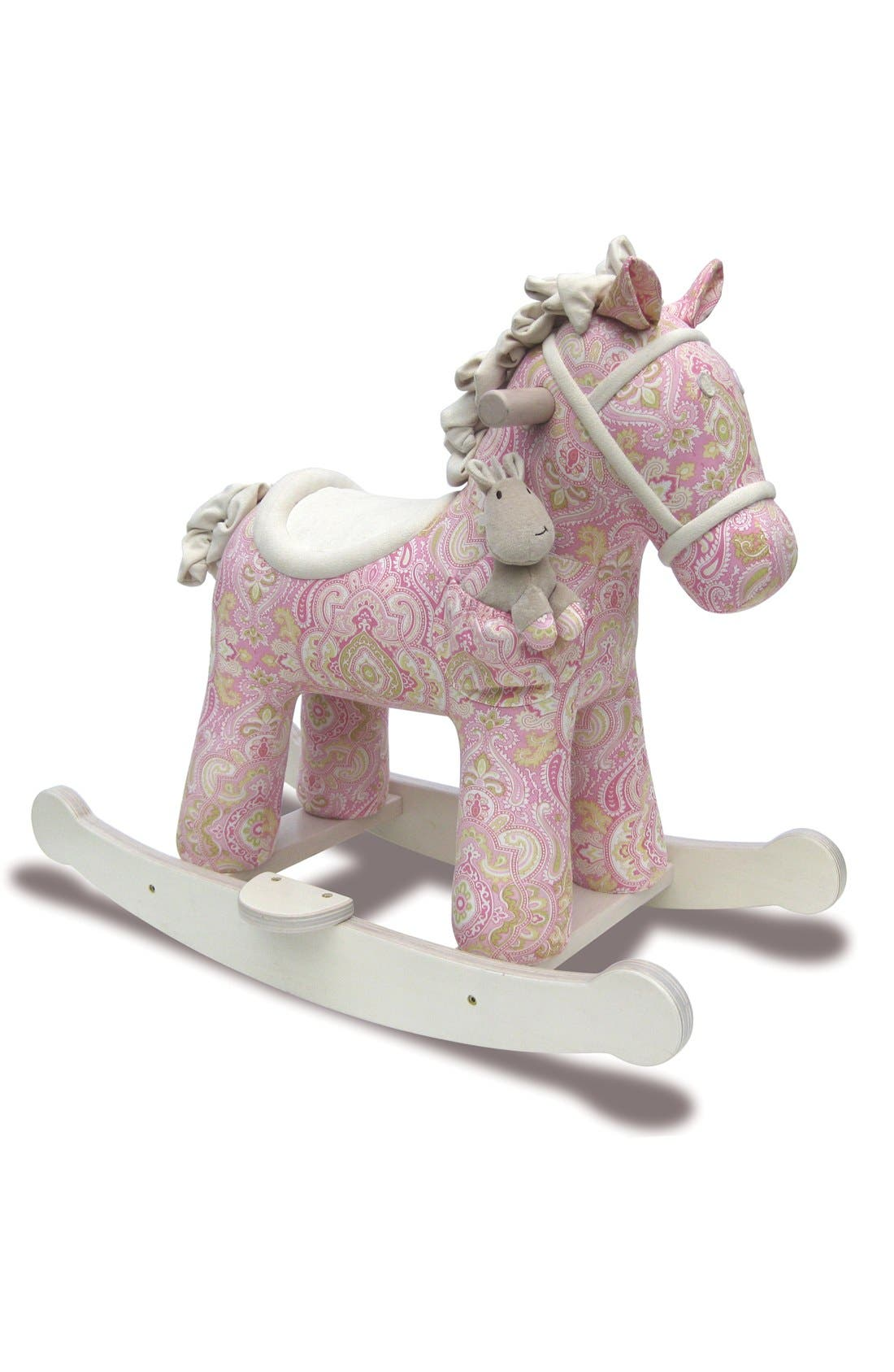 Rocking Horse & Stuffed Animal,                             Main thumbnail 2, color,