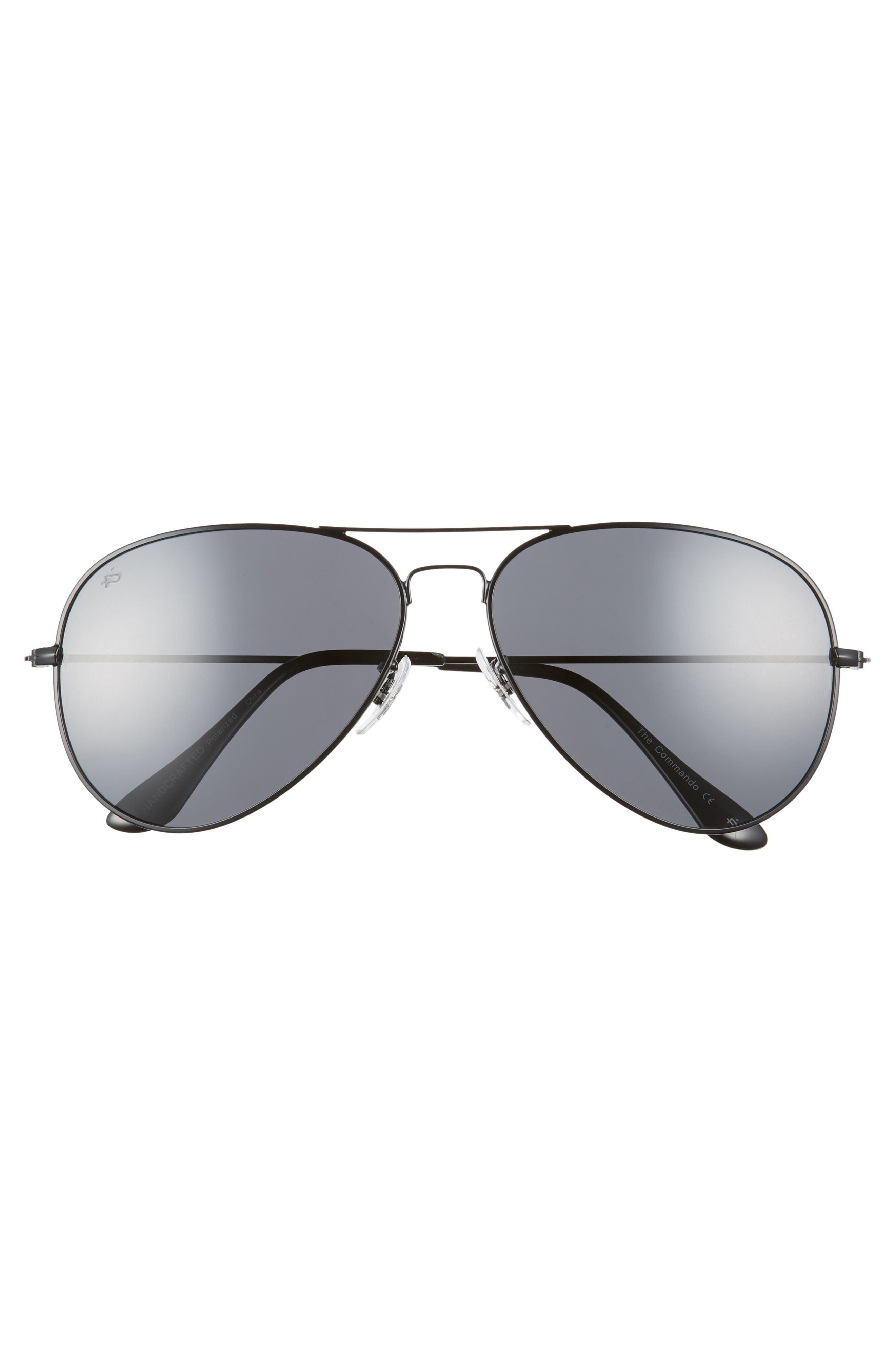 The Commando 60mm Aviator Sunglasses,                             Alternate thumbnail 3, color,                             001