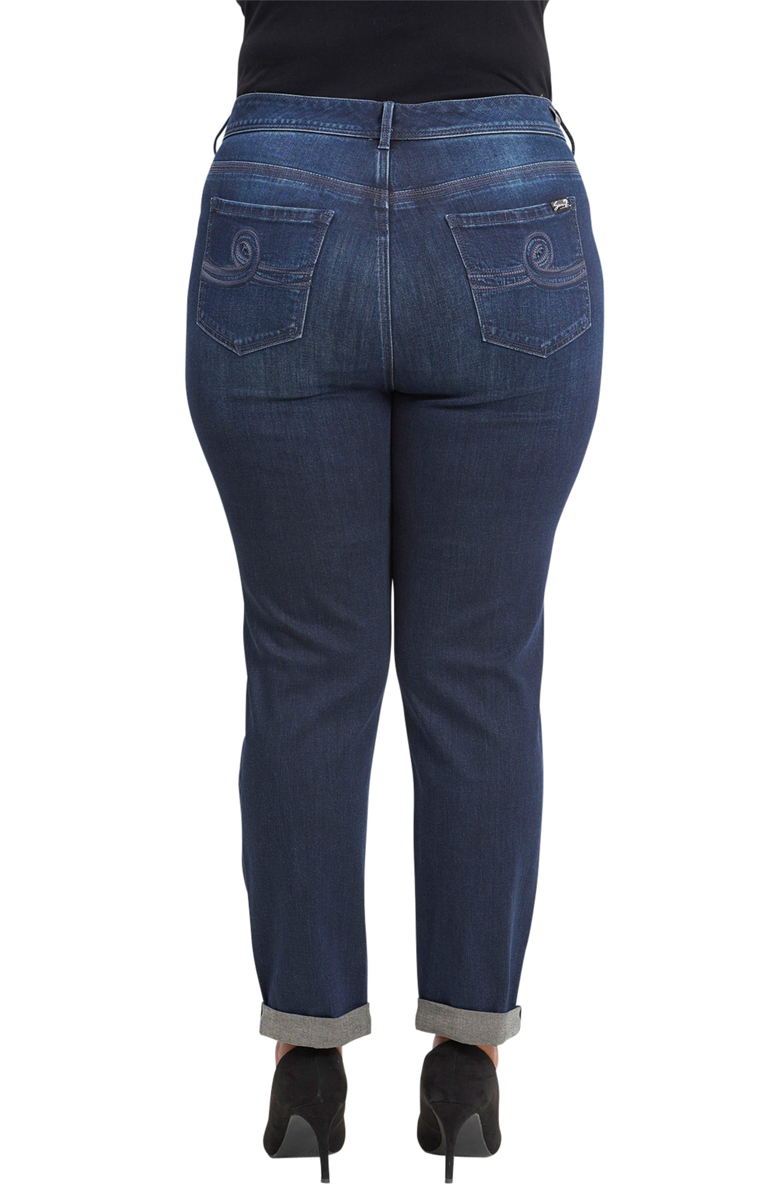 Tummyless High Rise Roll Cuff Slim Fit Jeans,                             Alternate thumbnail 2, color,                             TWAIN
