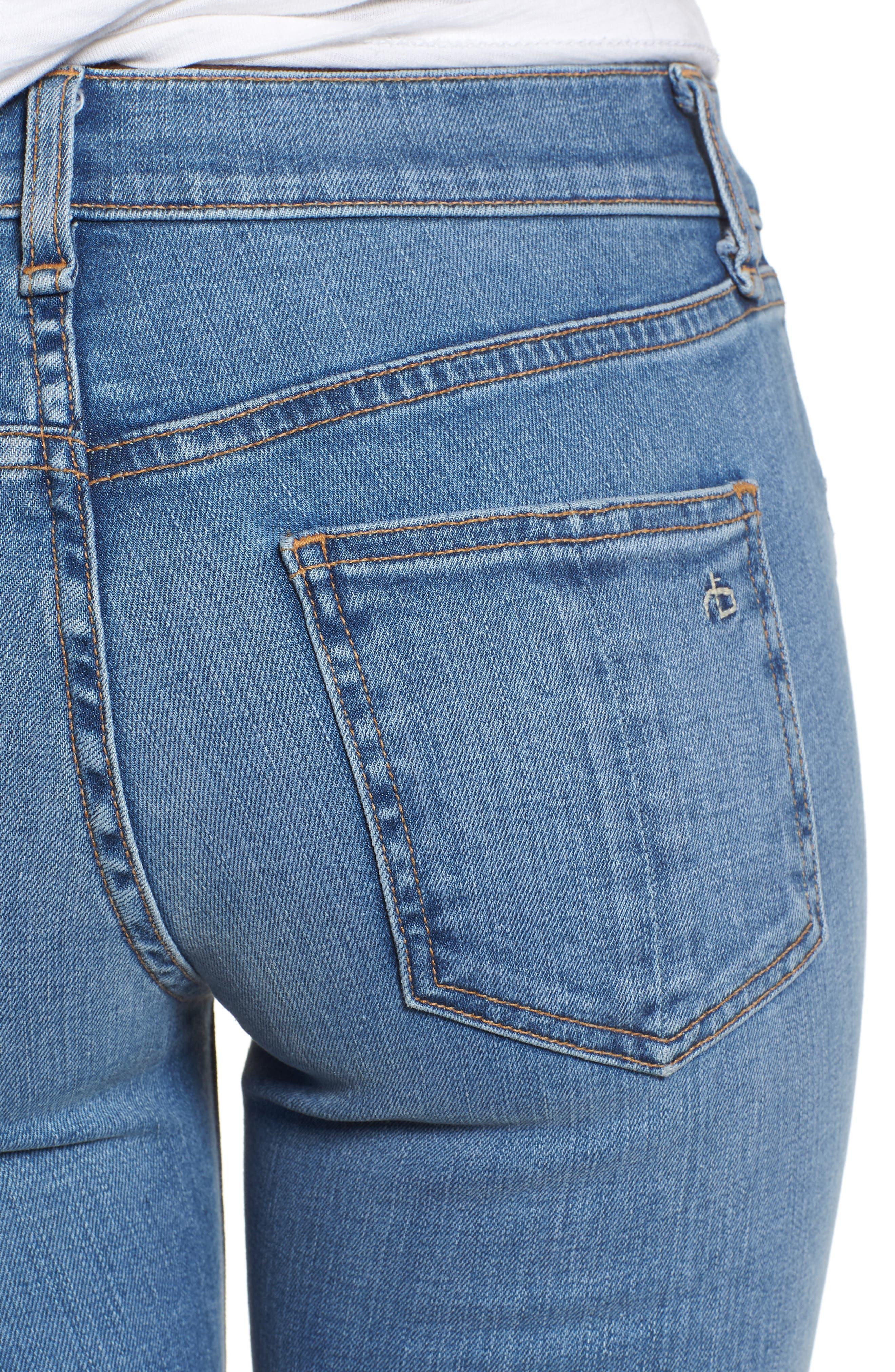 Crop Skinny Jeans,                             Alternate thumbnail 4, color,                             424