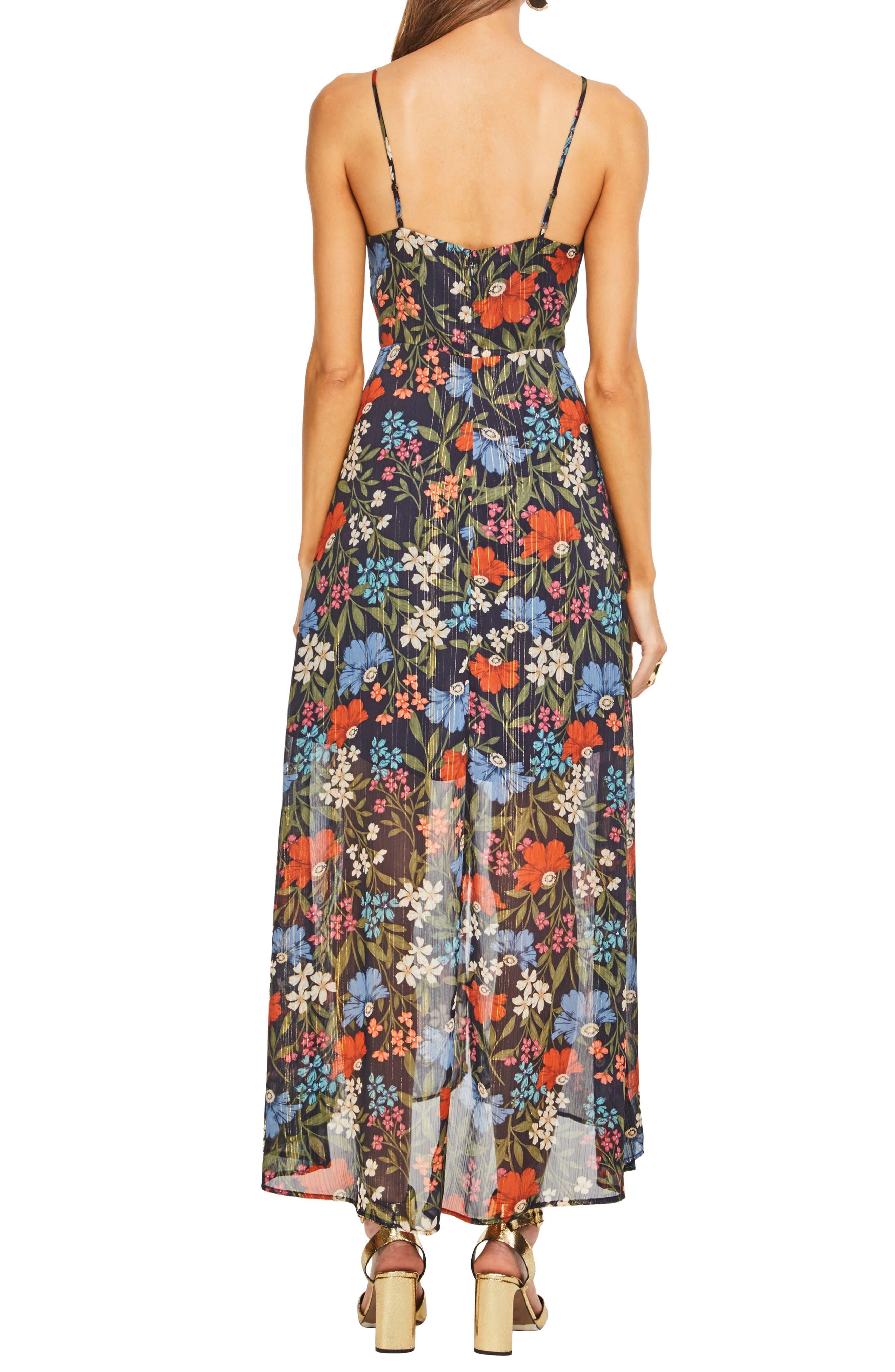 Alisha Maxi Dress,                             Alternate thumbnail 2, color,                             NAVY MULTI FLORAL