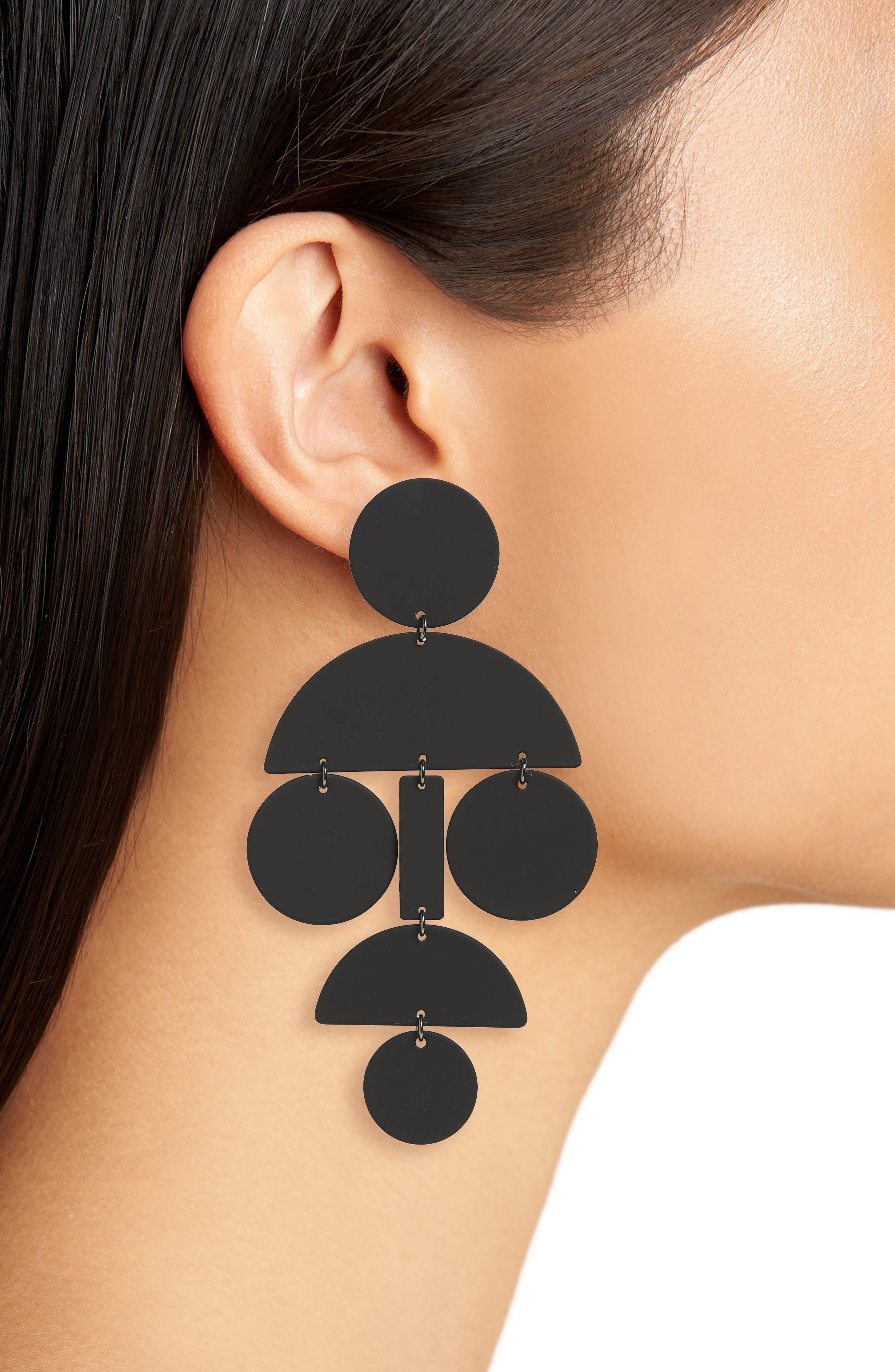 Statement Earrings,                             Alternate thumbnail 2, color,                             001