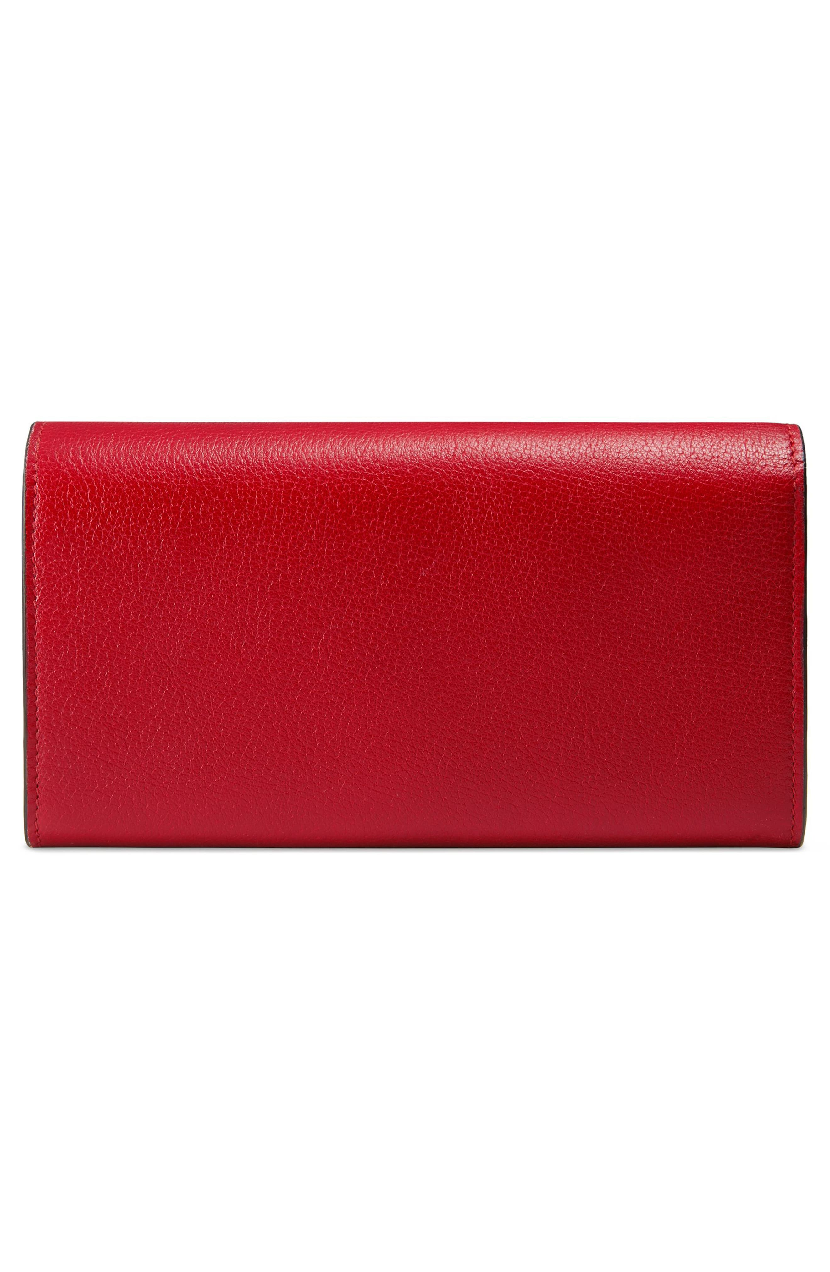 Ricamo Fiori Floral Embroidered Continental Wallet,                             Alternate thumbnail 6, color,