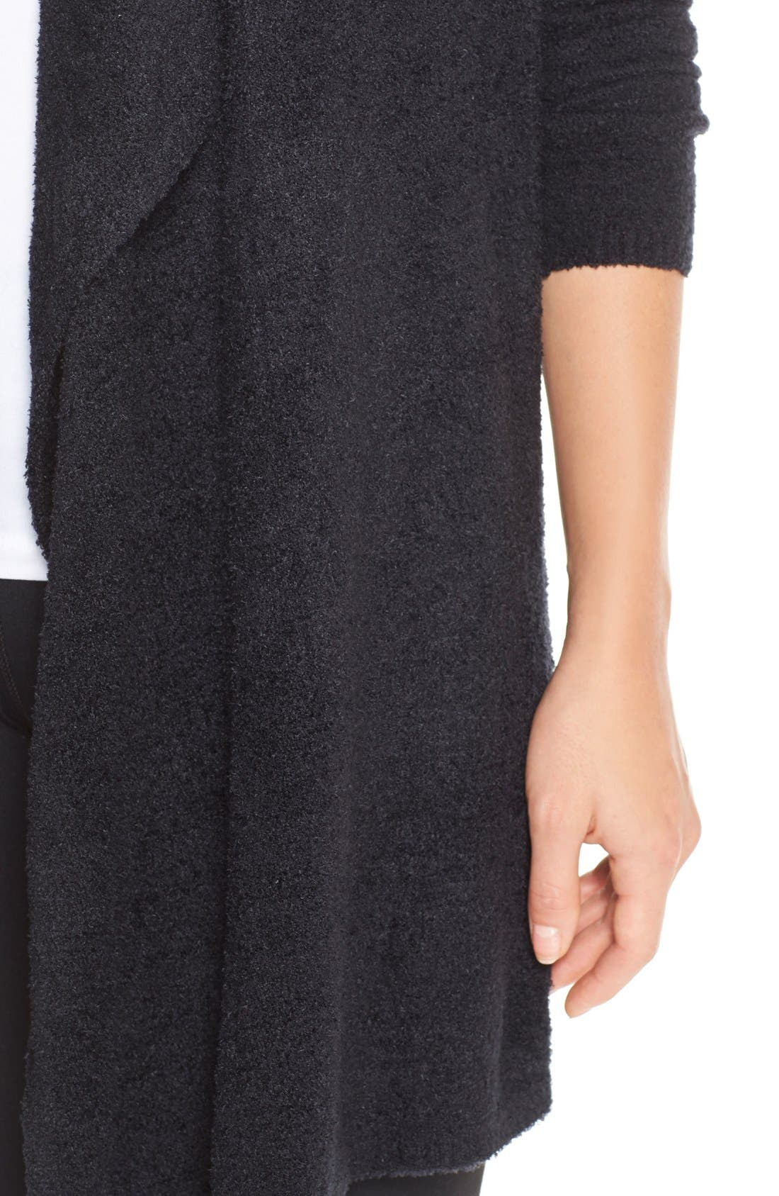 CozyChic Lite<sup>®</sup> Calypso Wrap Cardigan,                             Alternate thumbnail 8, color,                             BLACK