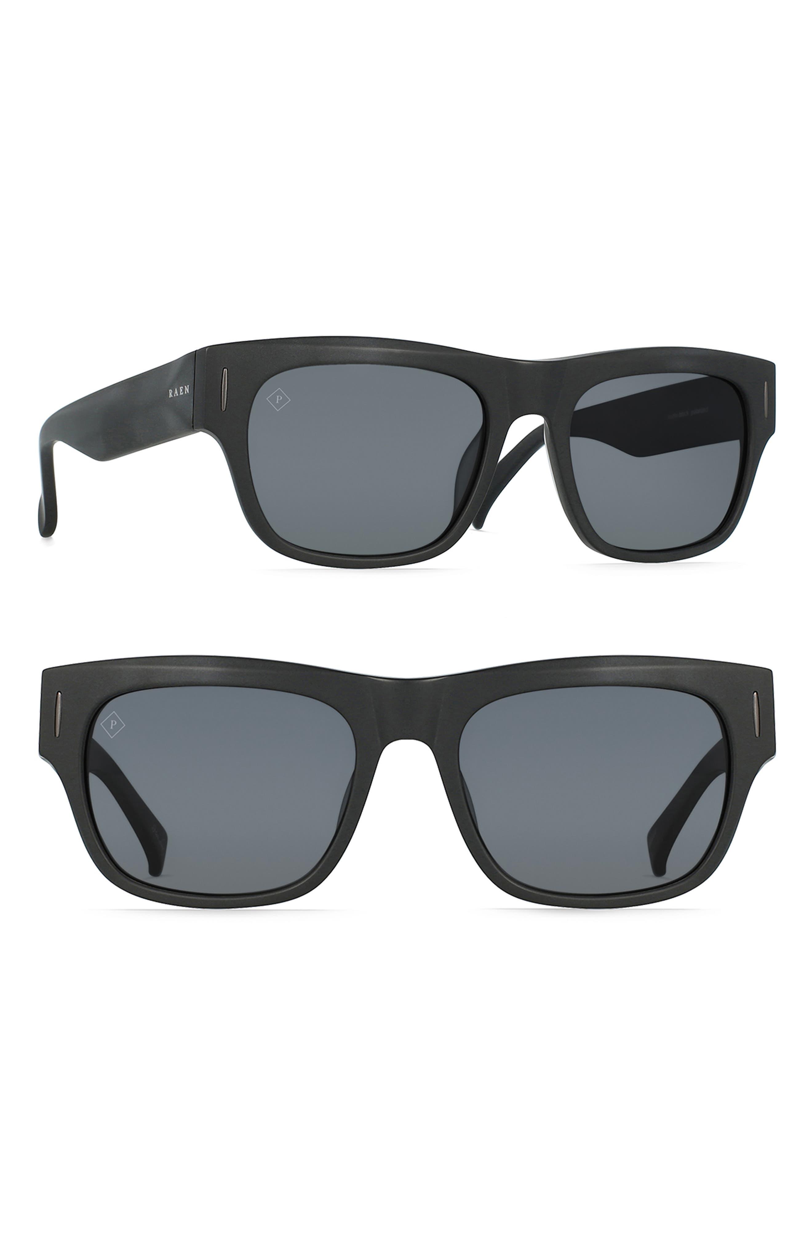 RAEN Lenny 55Mm Polarized Sunglasses - Matte Black/ Black