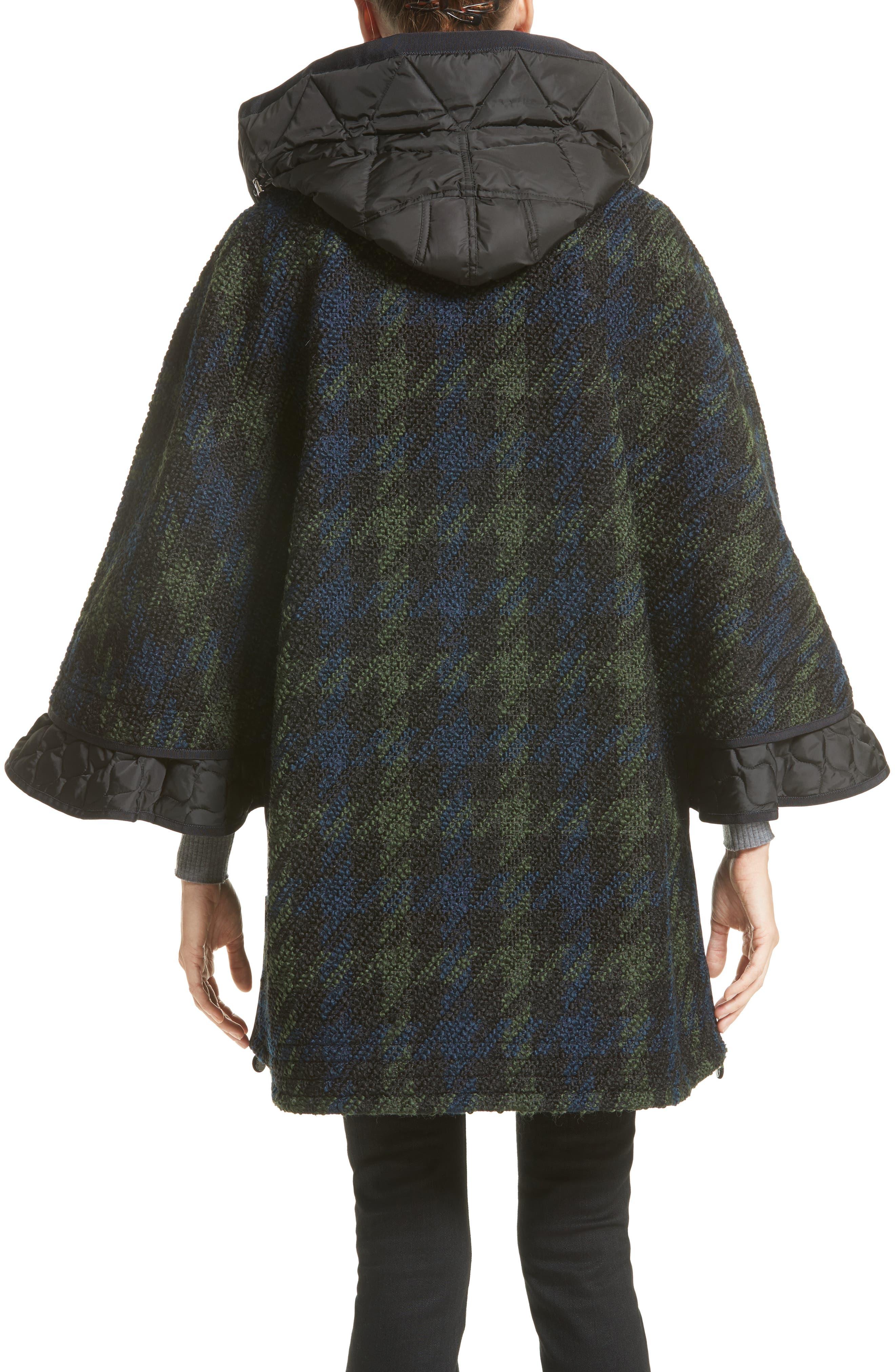 Euphrasie Wool Blend Houndstooth Coat,                             Alternate thumbnail 4, color,