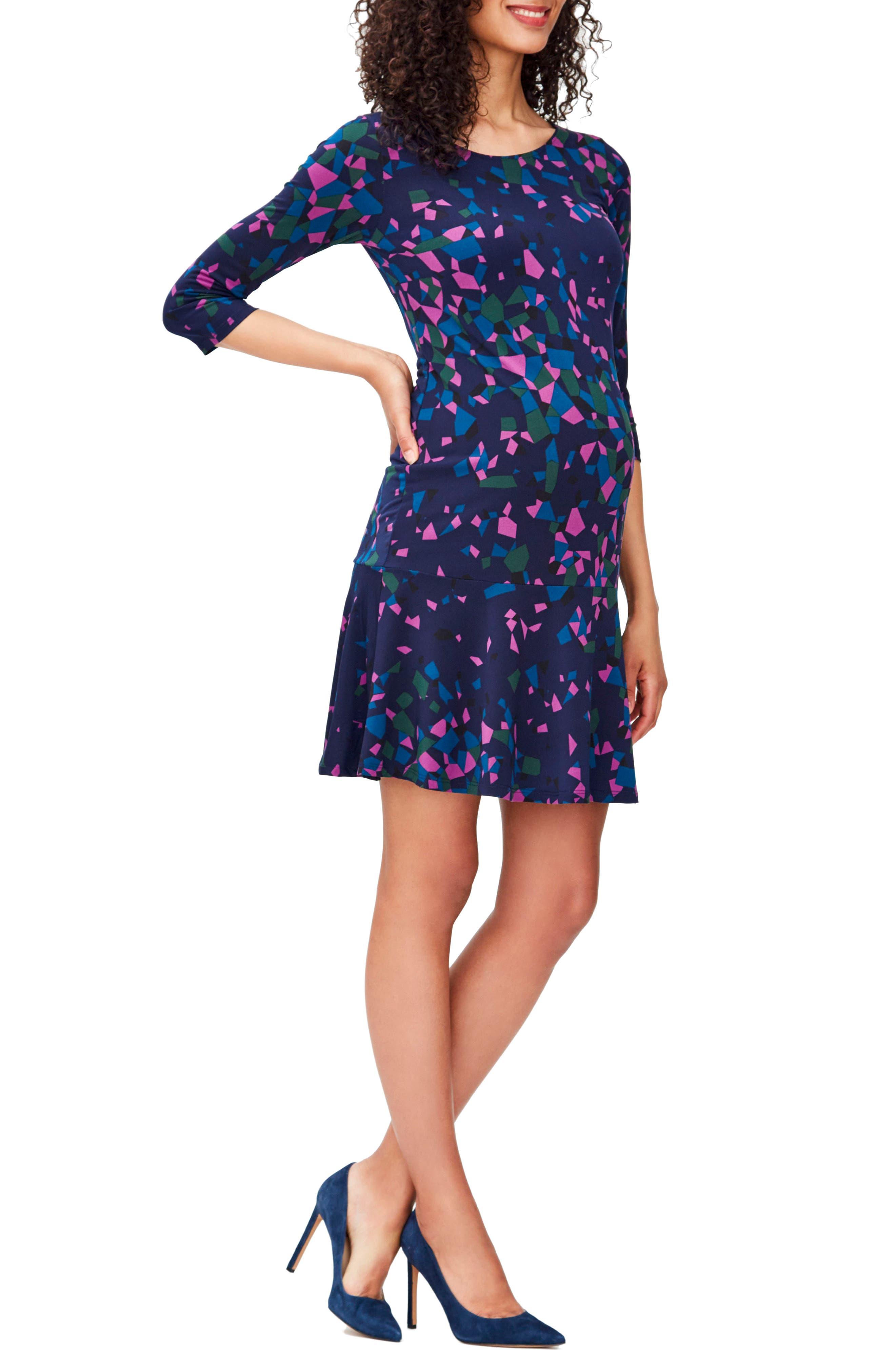 'Ilana' Belted Maternity Dress,                             Main thumbnail 9, color,