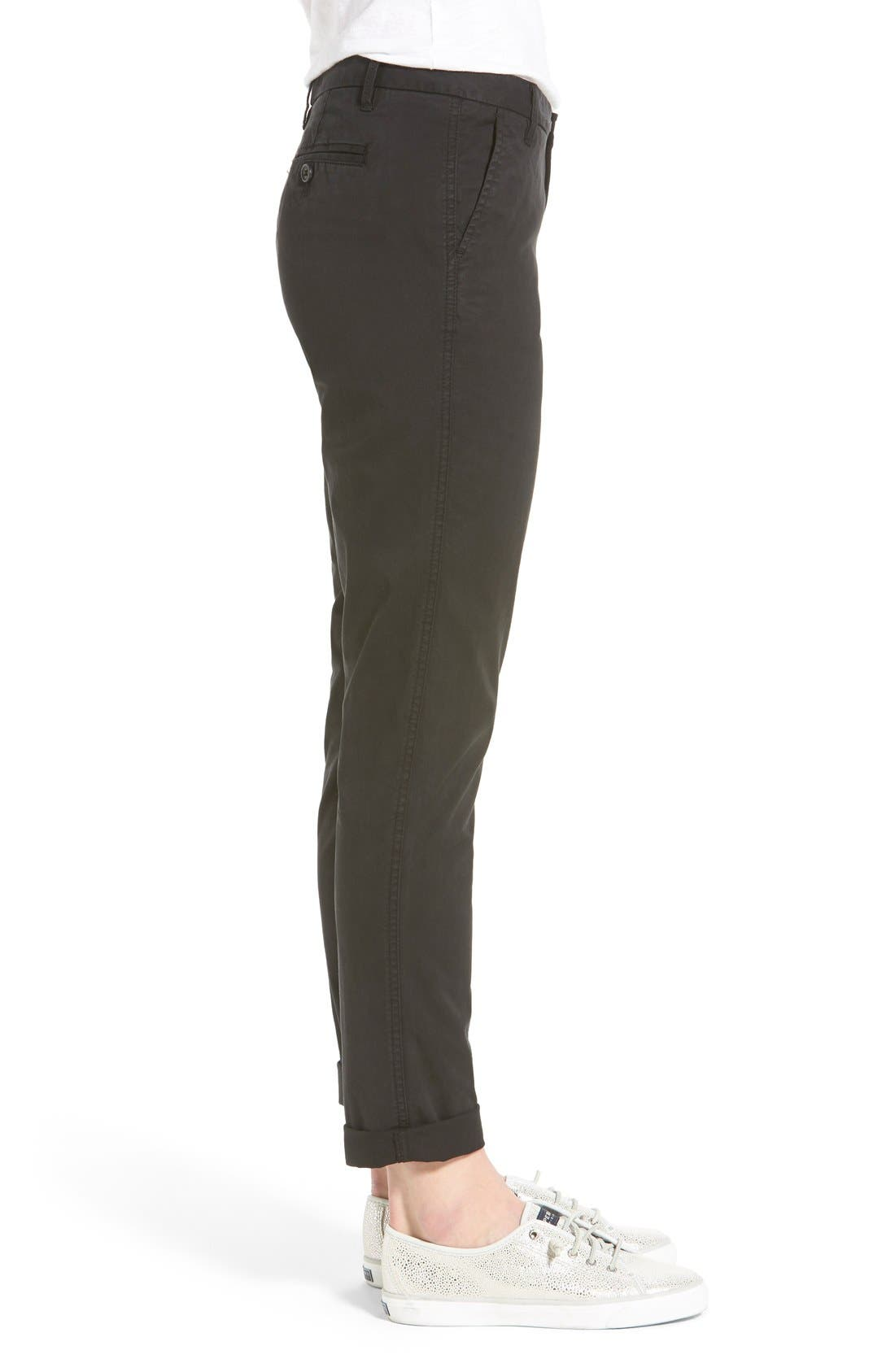 Chino Ankle Pants,                             Alternate thumbnail 2, color,                             001