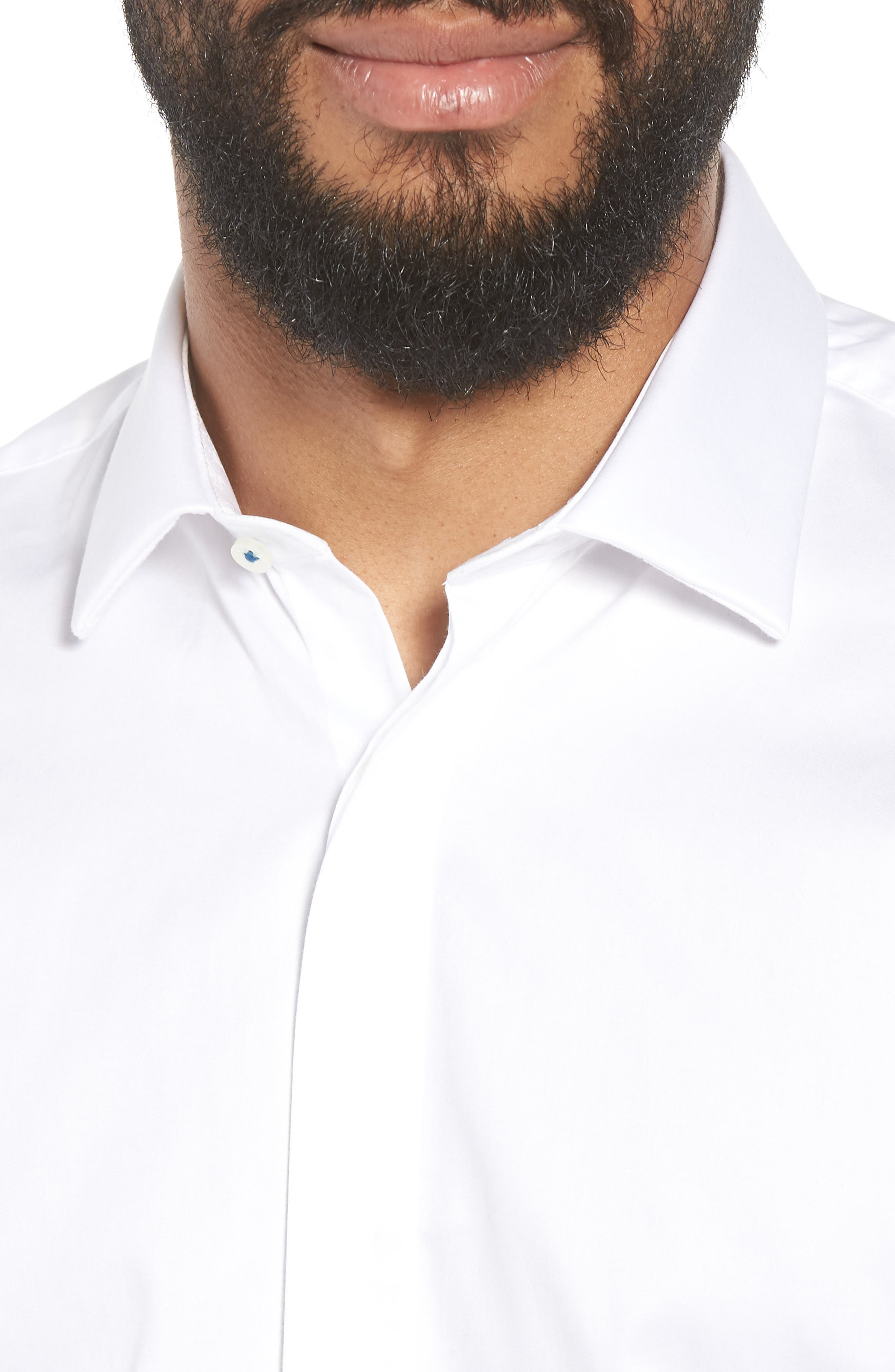 Fedra Trim Fit Tuxedo Shirt,                             Alternate thumbnail 2, color,                             WHITE
