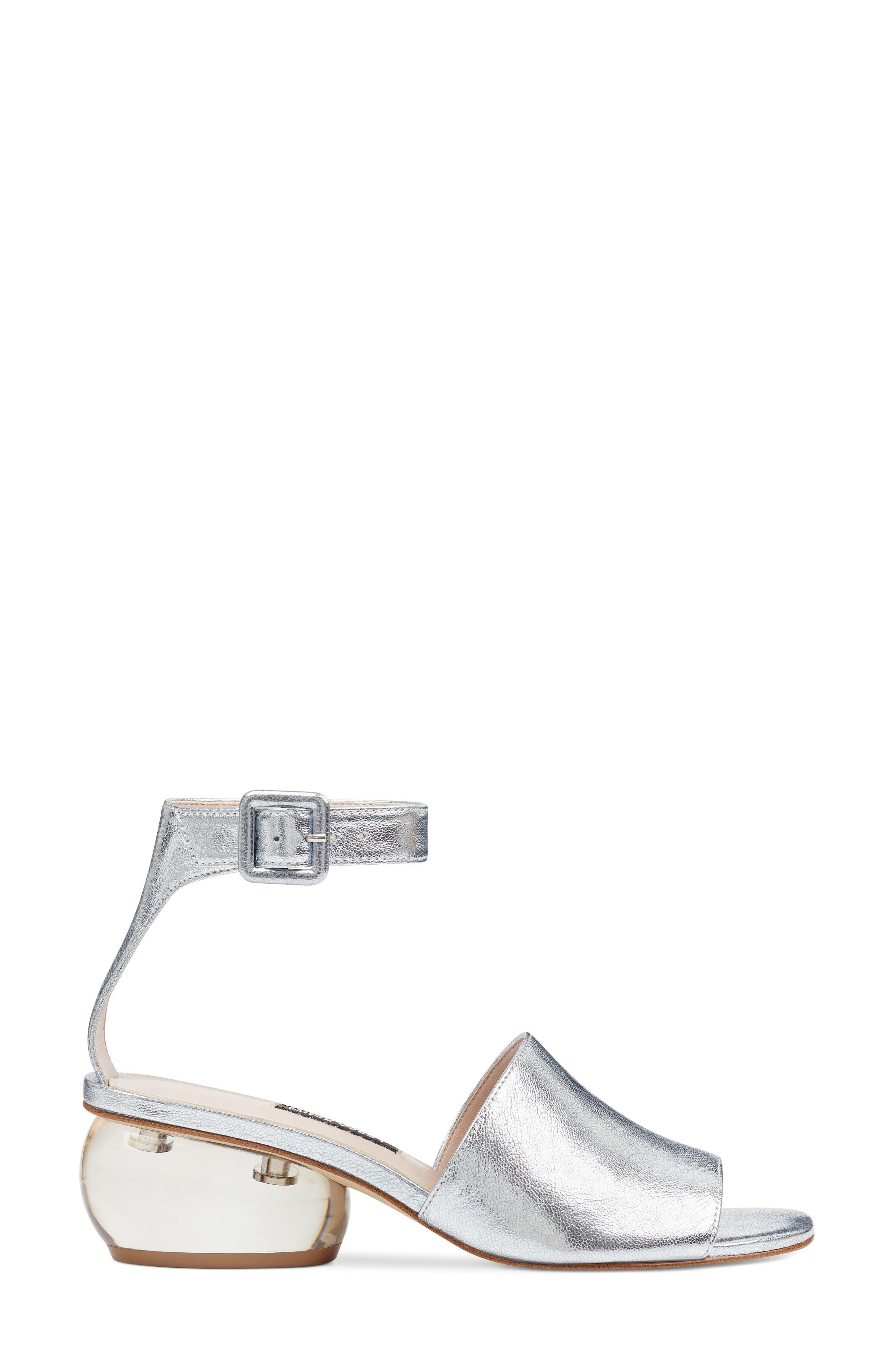 Enyo Clear Heel Sandal,                             Alternate thumbnail 6, color,