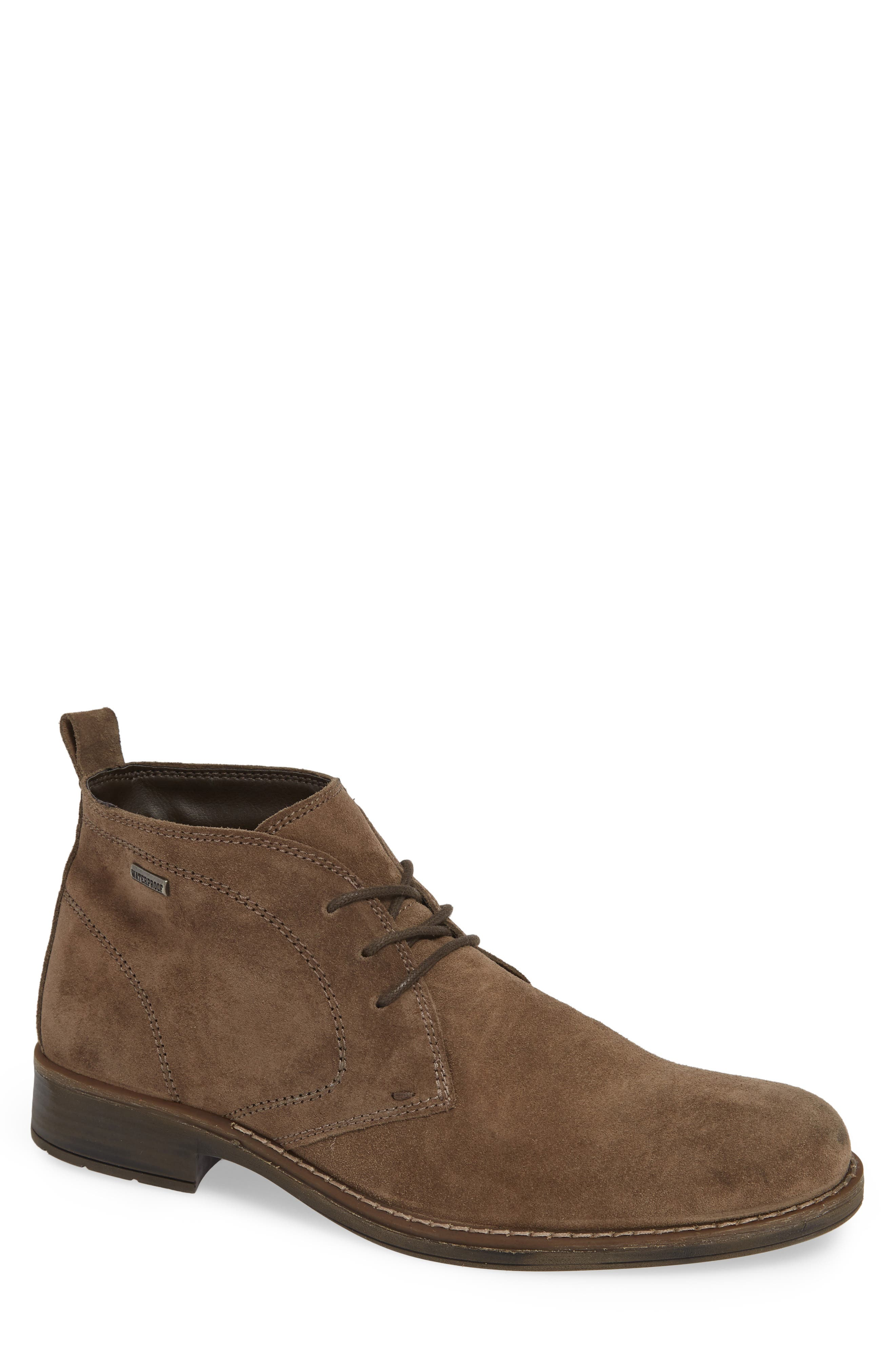 Stevens Waterproof Chukka Boot,                             Main thumbnail 1, color,                             TAUPE SUEDE