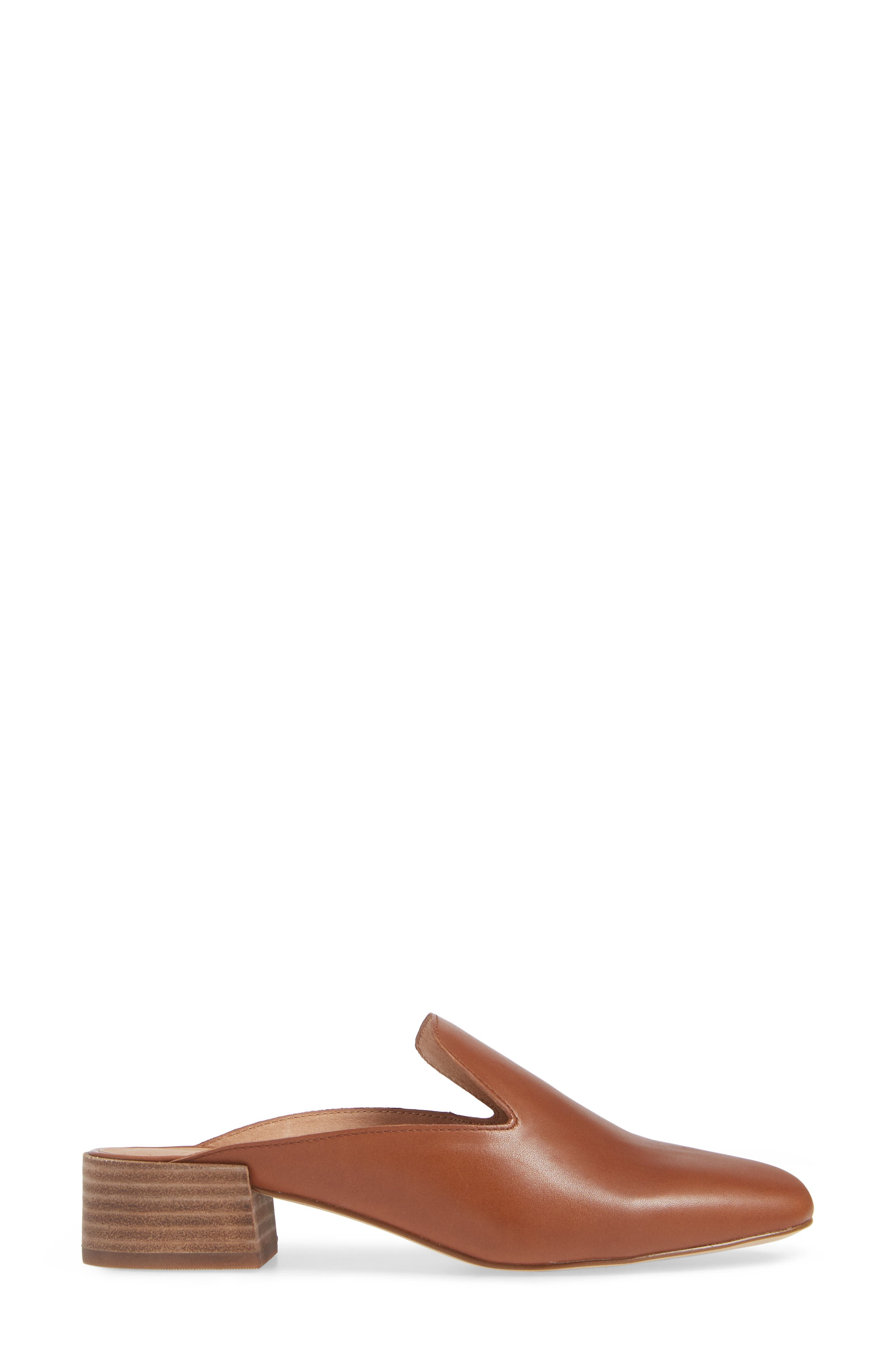 The Willa Loafer Mule,                             Alternate thumbnail 3, color,                             ENGLISH SADDLE VINTAGE LEATHER