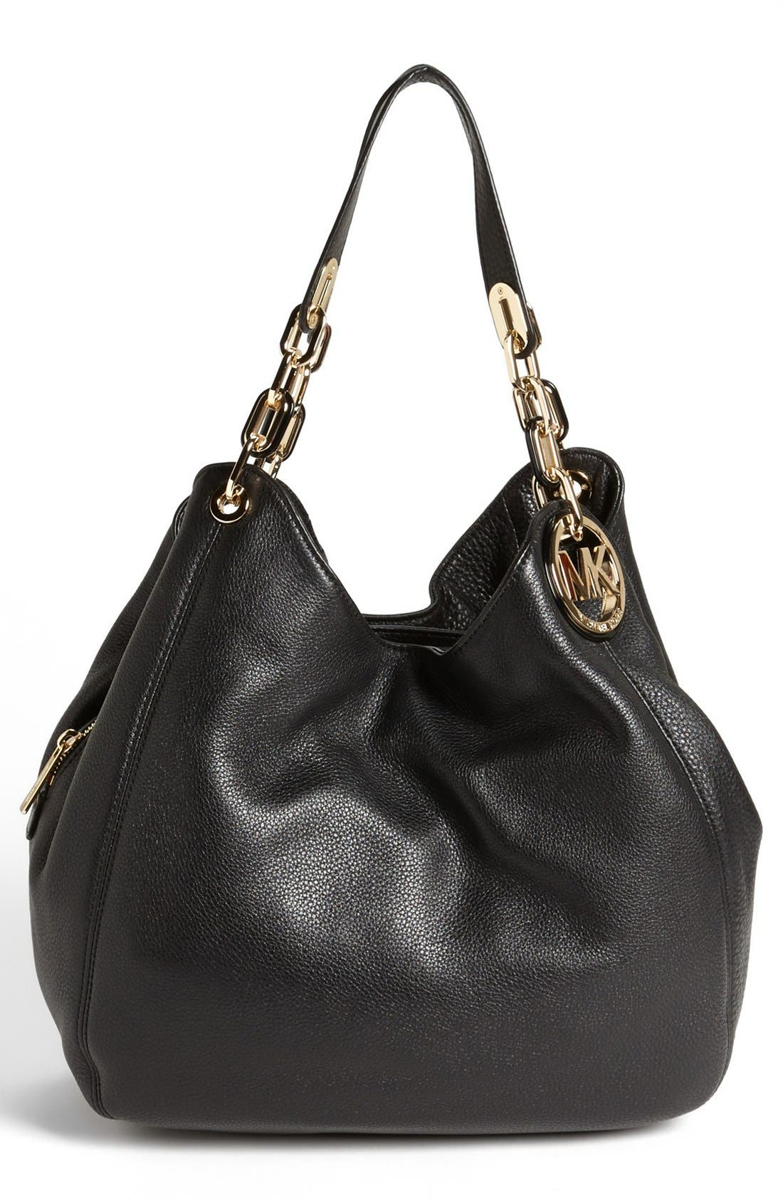 MICHAEL MICHAEL KORS,                             'Fulton - Large' Tote,                             Alternate thumbnail 4, color,                             001