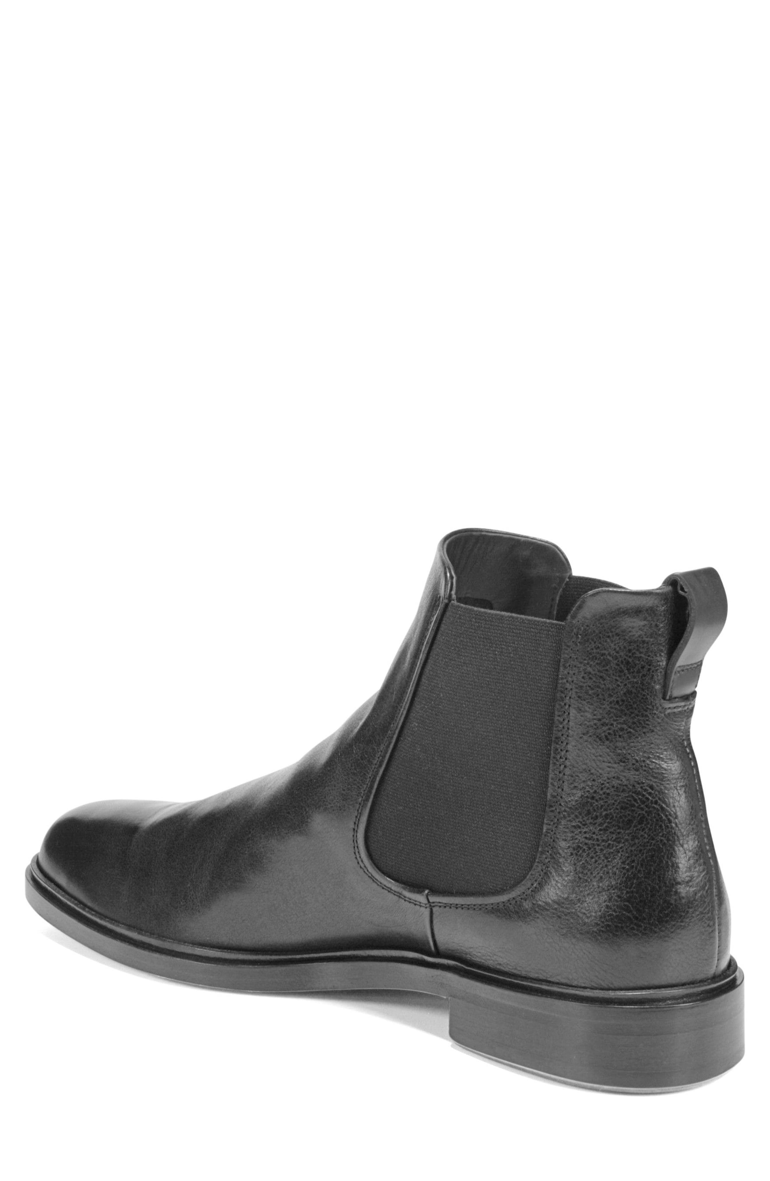 VINCE,                             Burroughs Chelsea Boot,                             Alternate thumbnail 2, color,                             BLACK