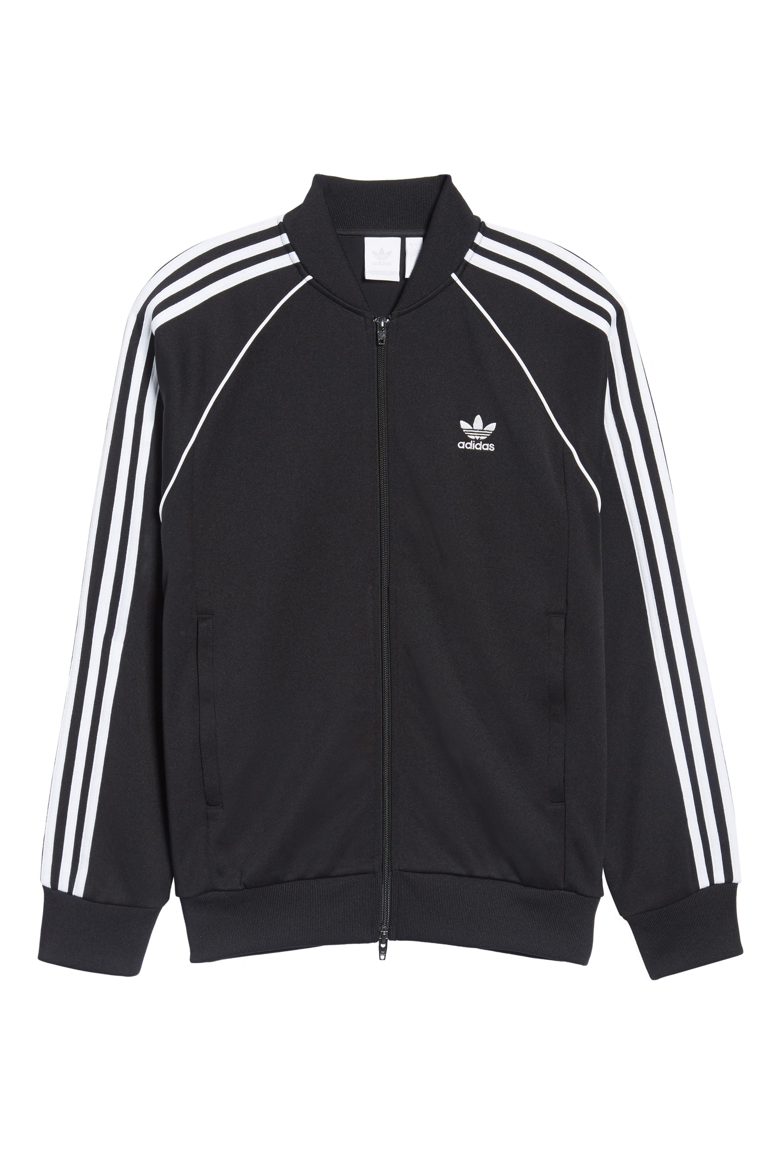 SST Track Jacket,                             Alternate thumbnail 6, color,                             BLACK