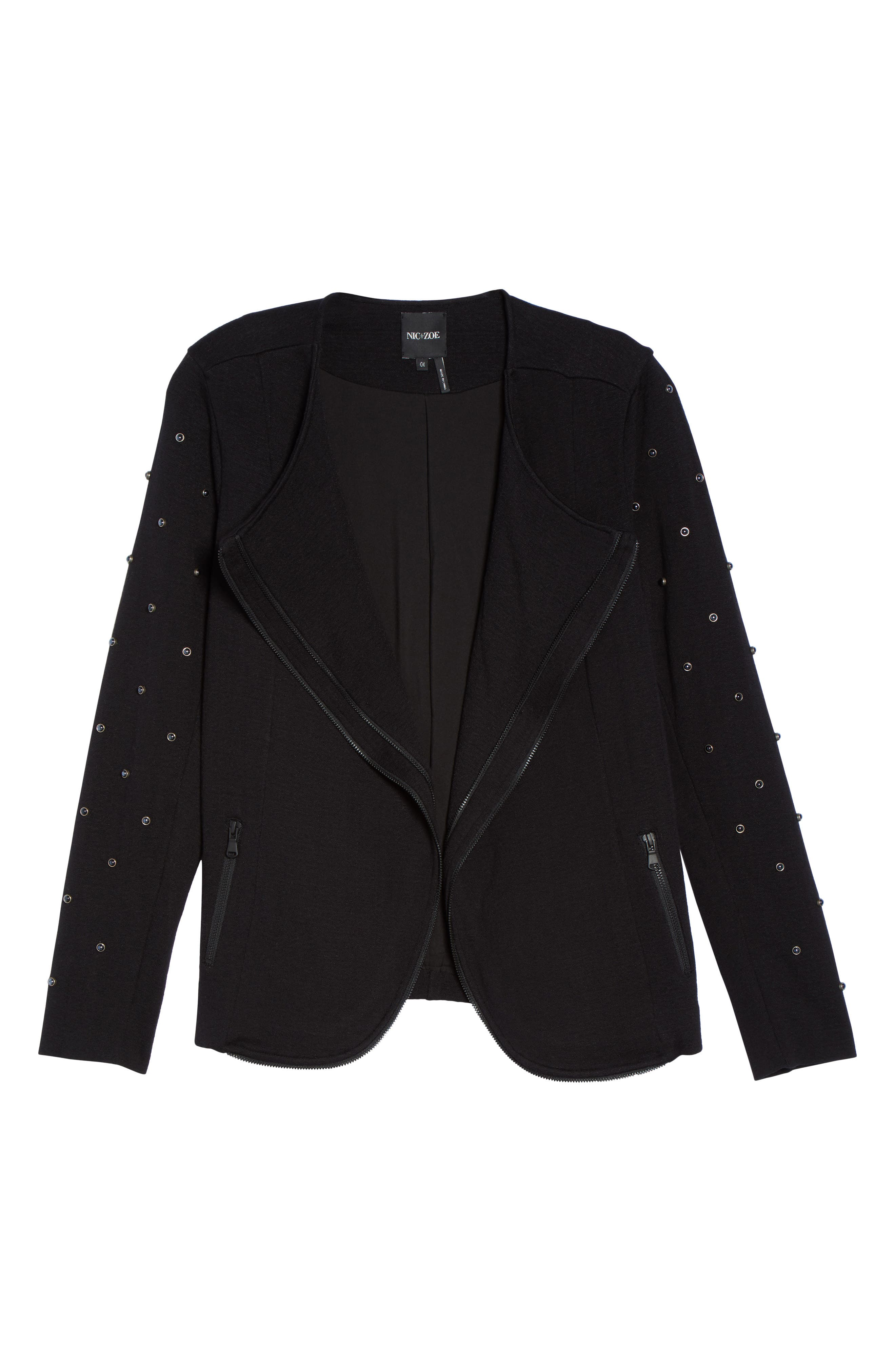 Modern Stud Jacket,                             Alternate thumbnail 5, color,                             004