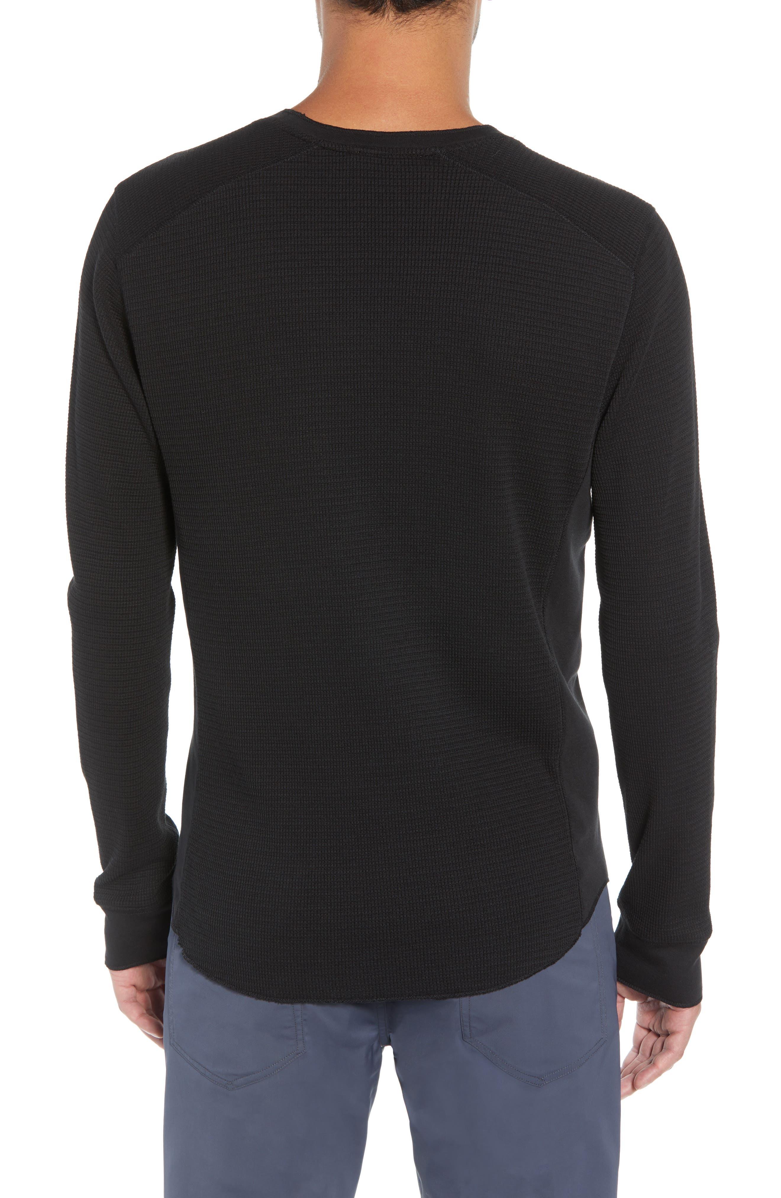 Regular Fit Waffle Knit T-Shirt,                             Alternate thumbnail 2, color,                             BLACK