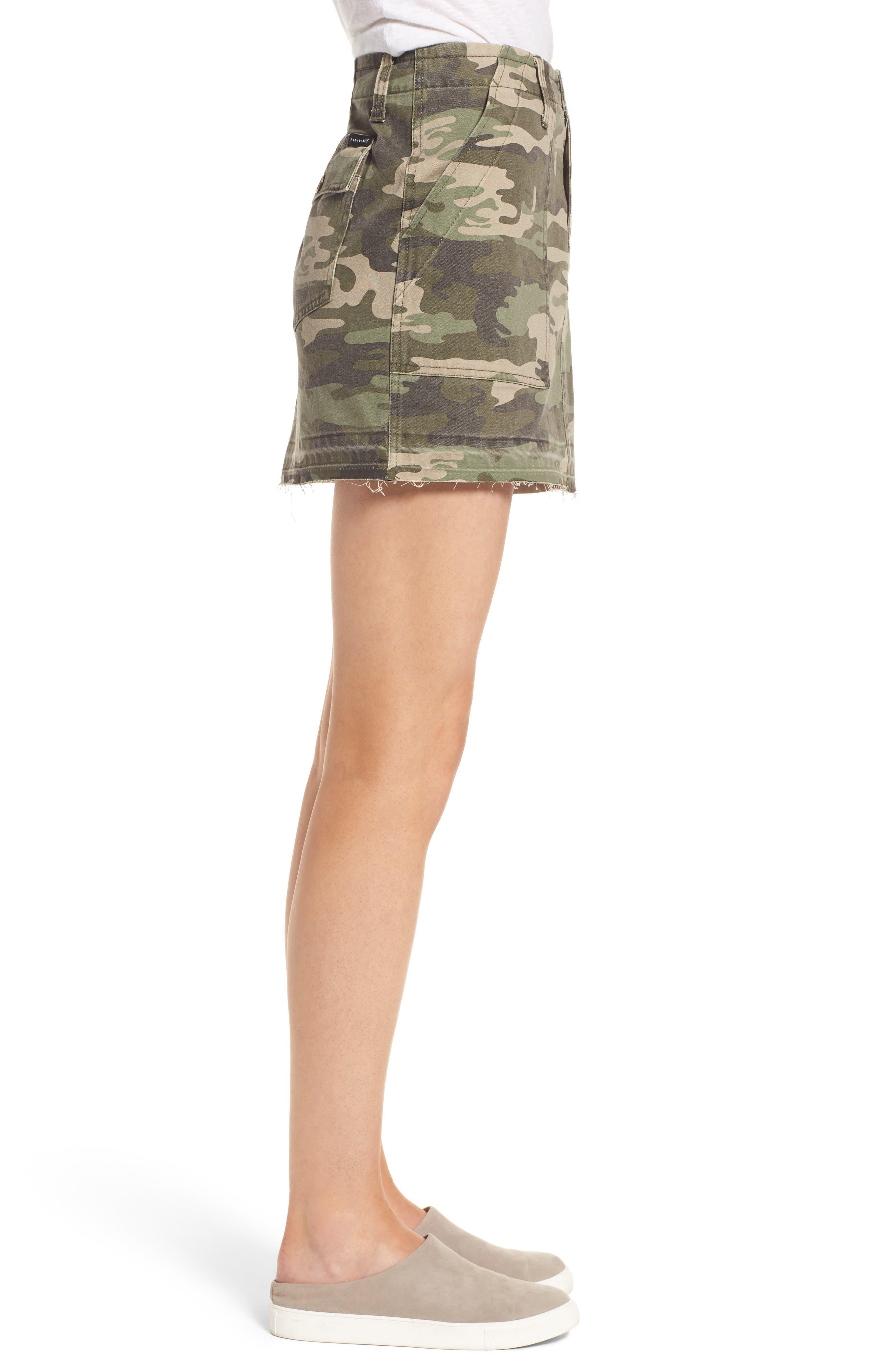 Safari Camo Skirt,                             Alternate thumbnail 3, color,                             393