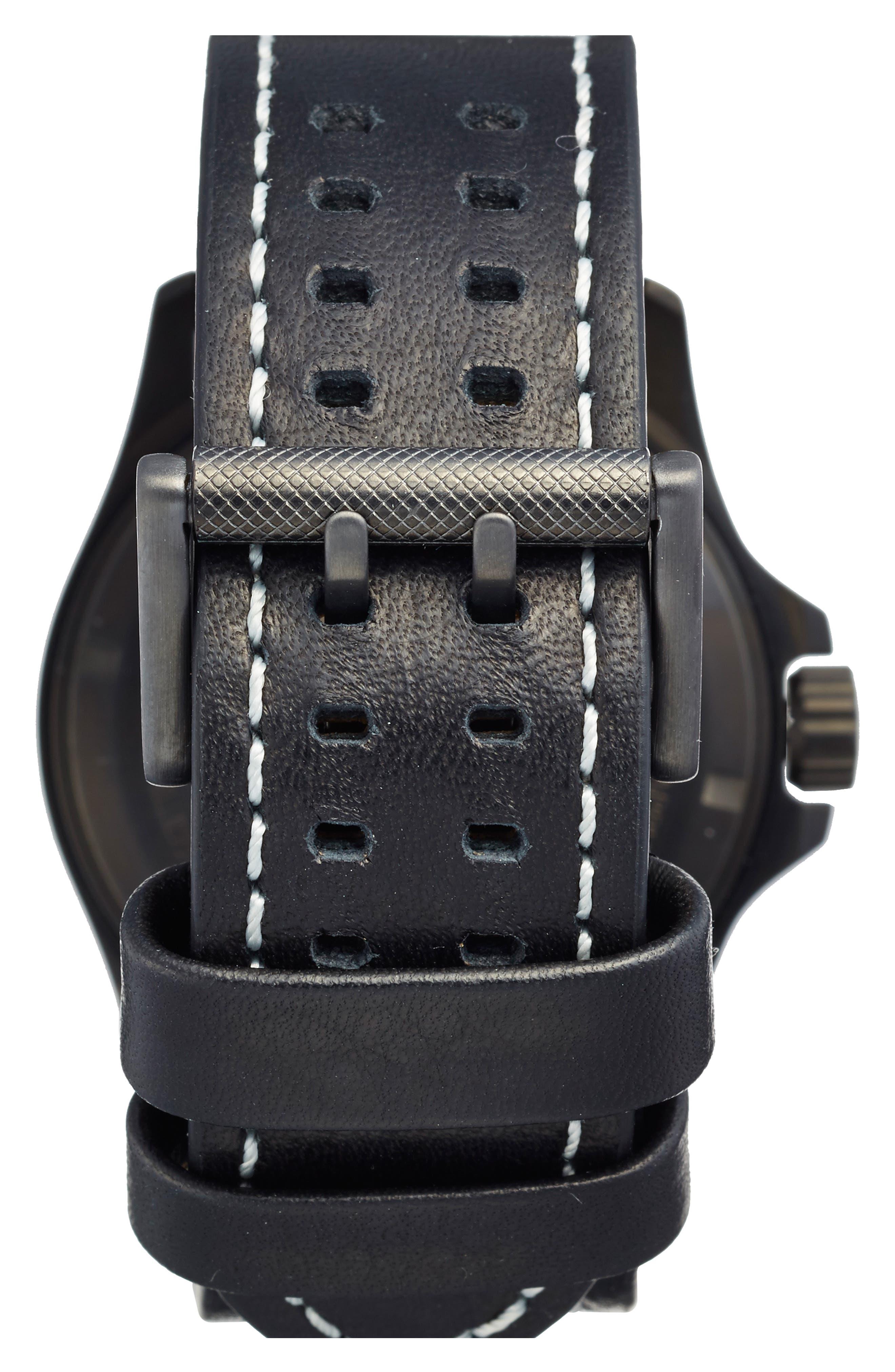 'Land - Atacama Field' Leather Strap Watch, 45mm,                             Alternate thumbnail 15, color,