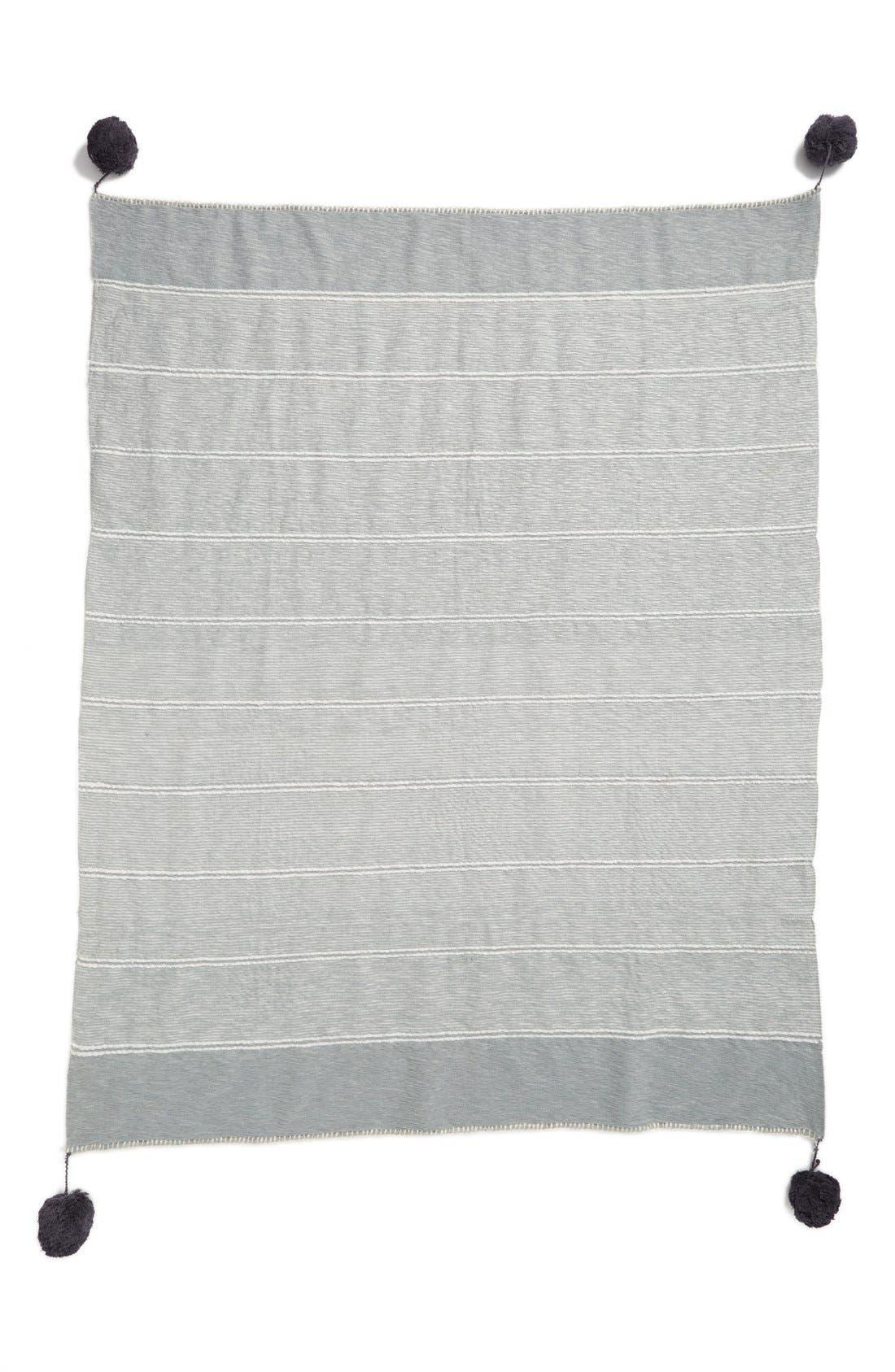 'Feather Stripe' Throw Blanket,                             Alternate thumbnail 3, color,                             020