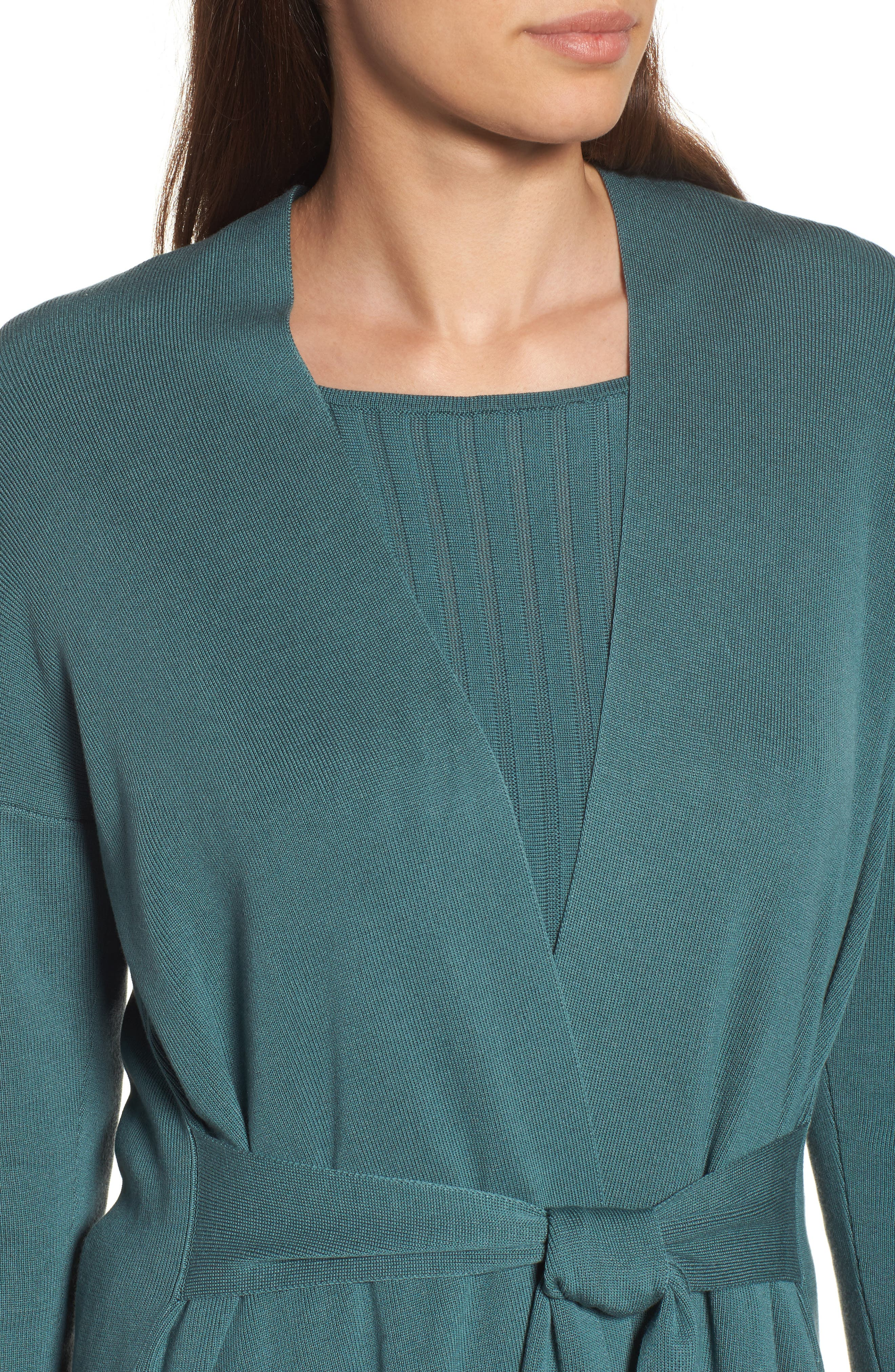 Long Belted Cardigan,                             Alternate thumbnail 15, color,